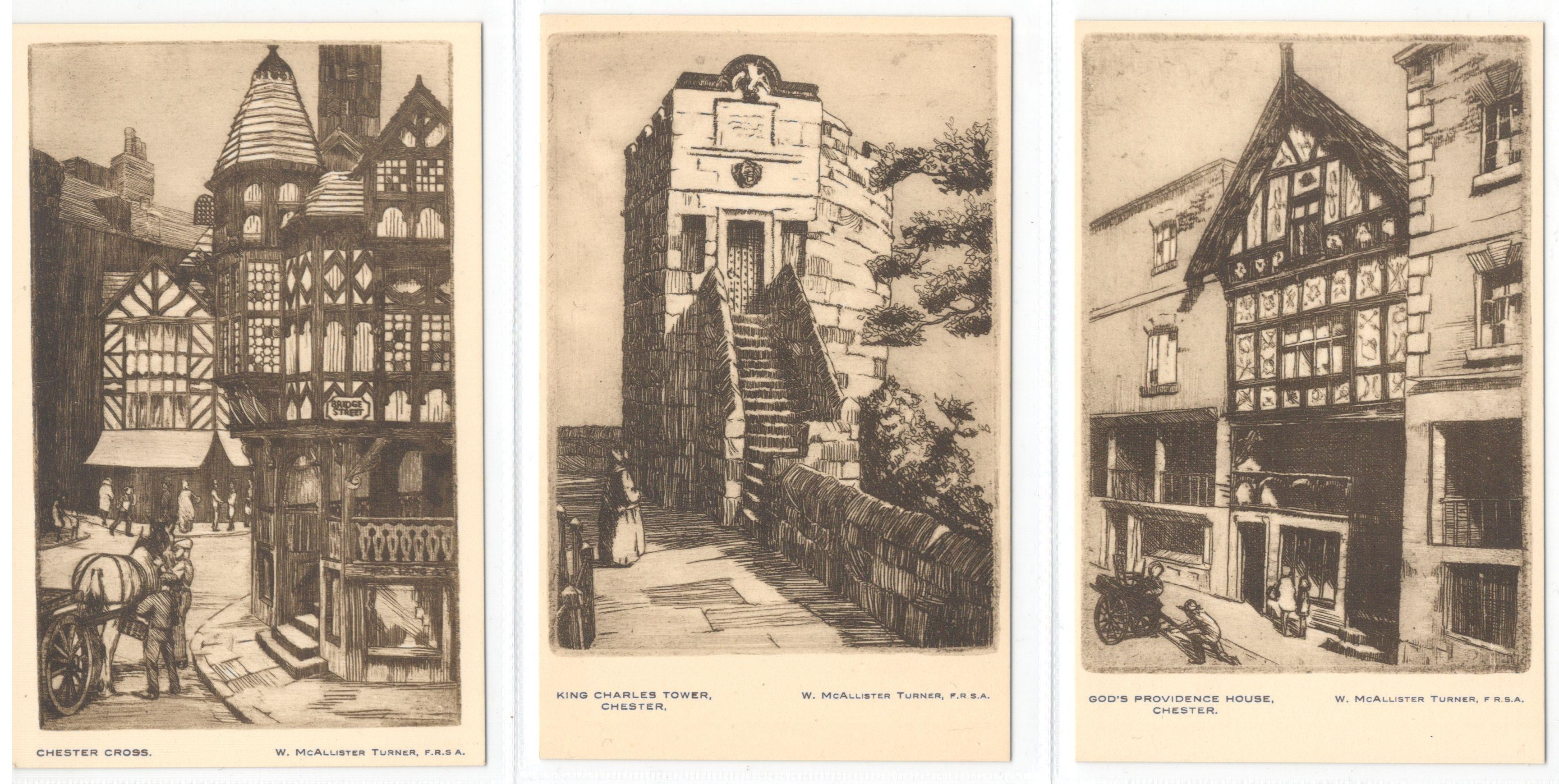 Lot 56 - SET OF SIX CHESTER POSTCARDS