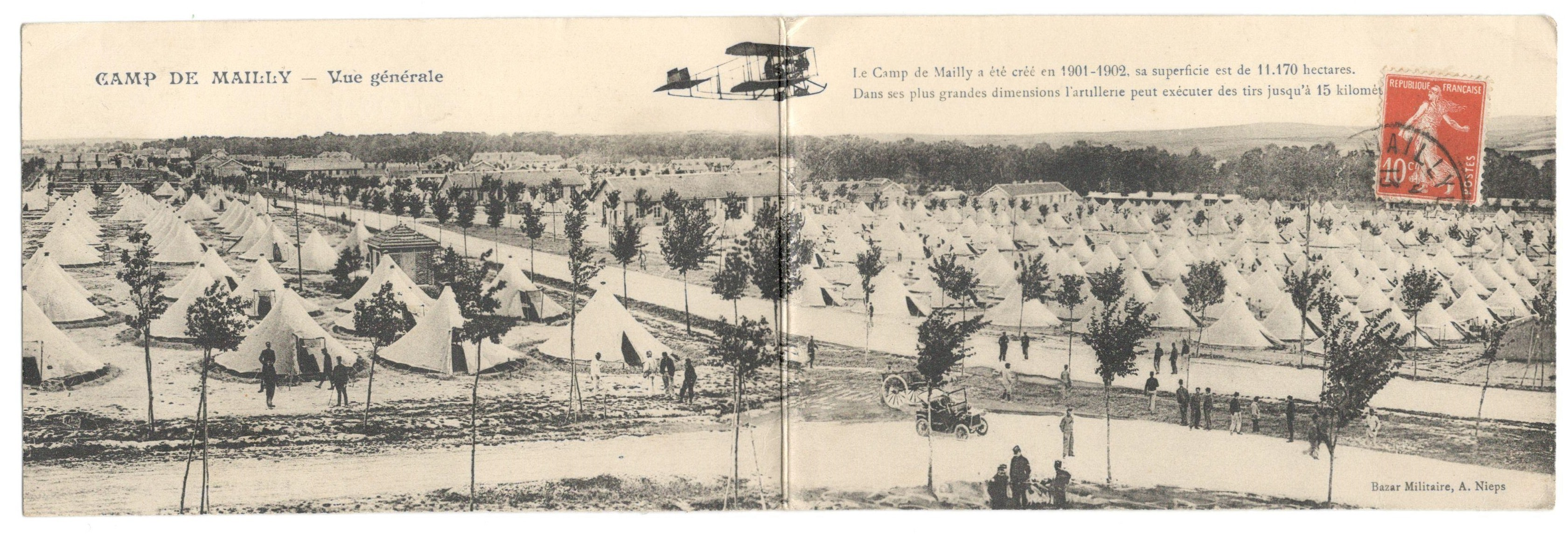 Lot 30 - CAMP DE MAILLY - WITH MESSAGE ON THE BACK