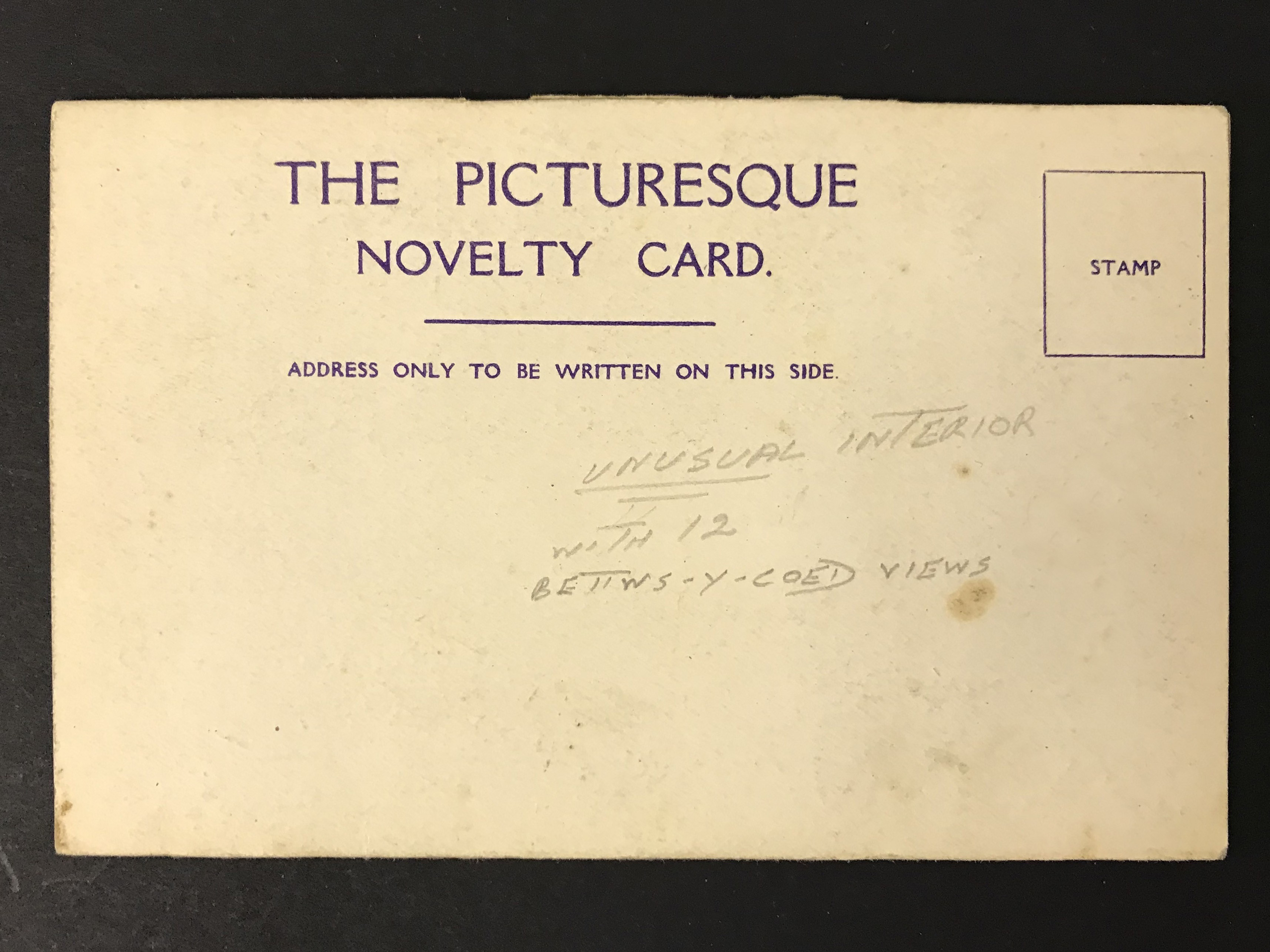 Lot 33 - THE PICTURESQUE NOVELTY CARD IN ART NOUVEAU STYLE WITH TWELVE VIEWS