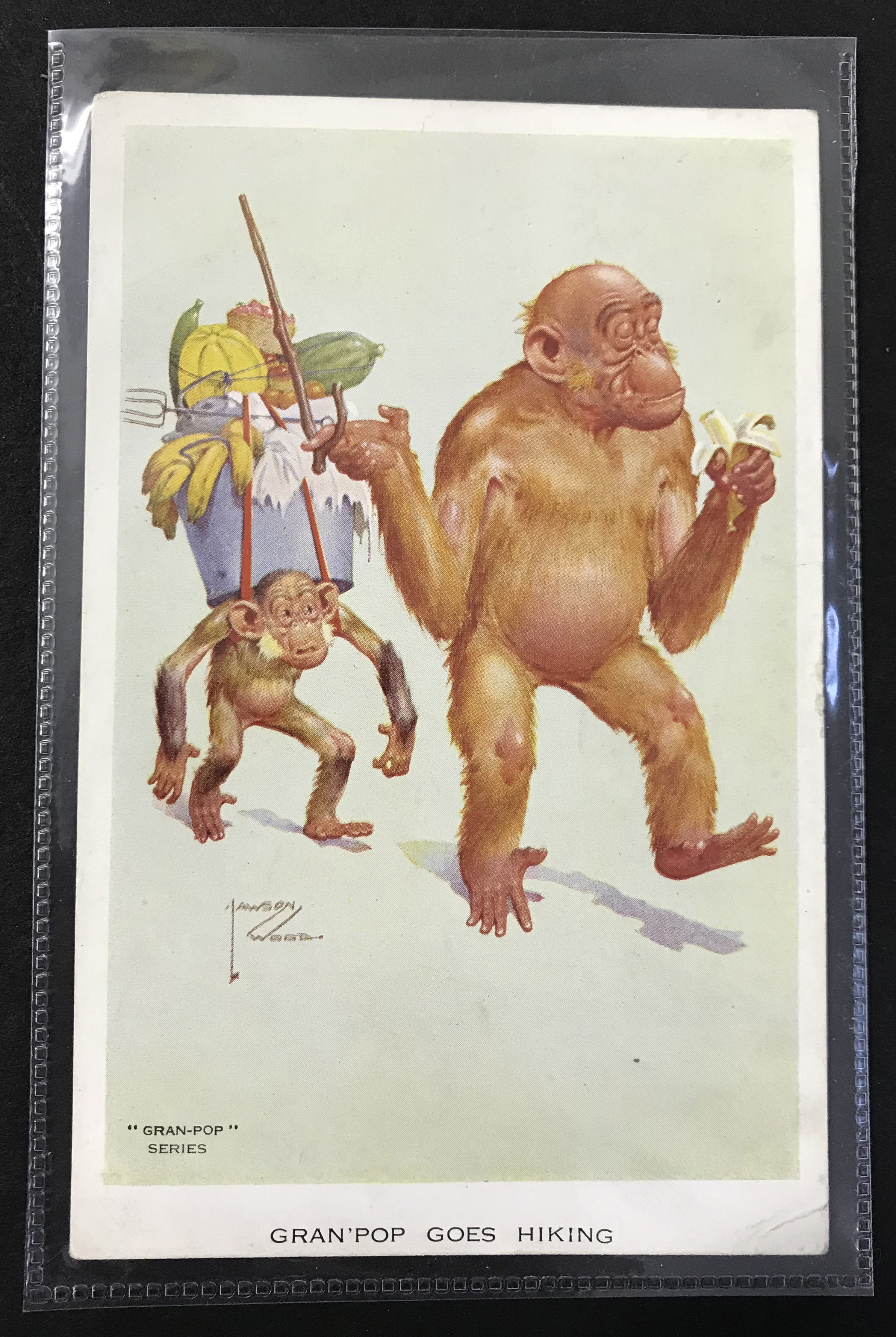 Lot 45 - SMALL GROUP OF LAWSON WOOD POSTCARDS FROM GRAN POP SERIES