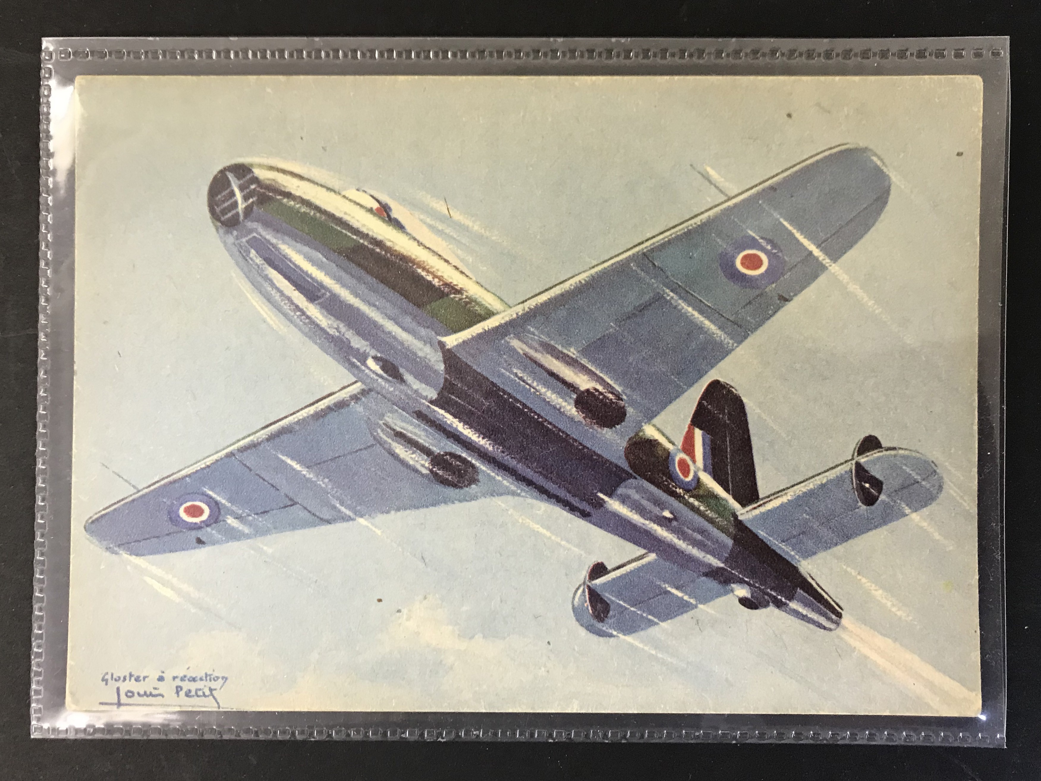 Lot 43 - GROUP OF TWELVE FRENCH PLANES RELATED POSTCARDS - VARIOUS SERIES