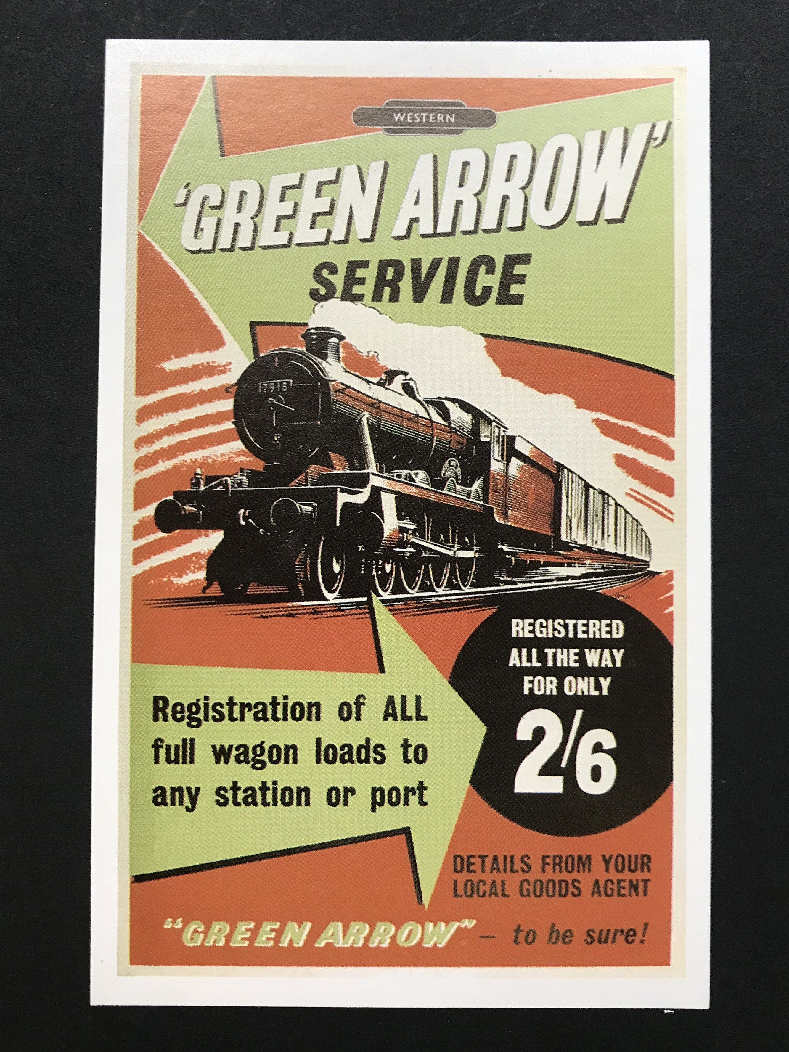 Lot 44 - COMPLETE SET OF SIX RAILWAY ON POSTERS POSTCARDS - WITH ENVELOPE