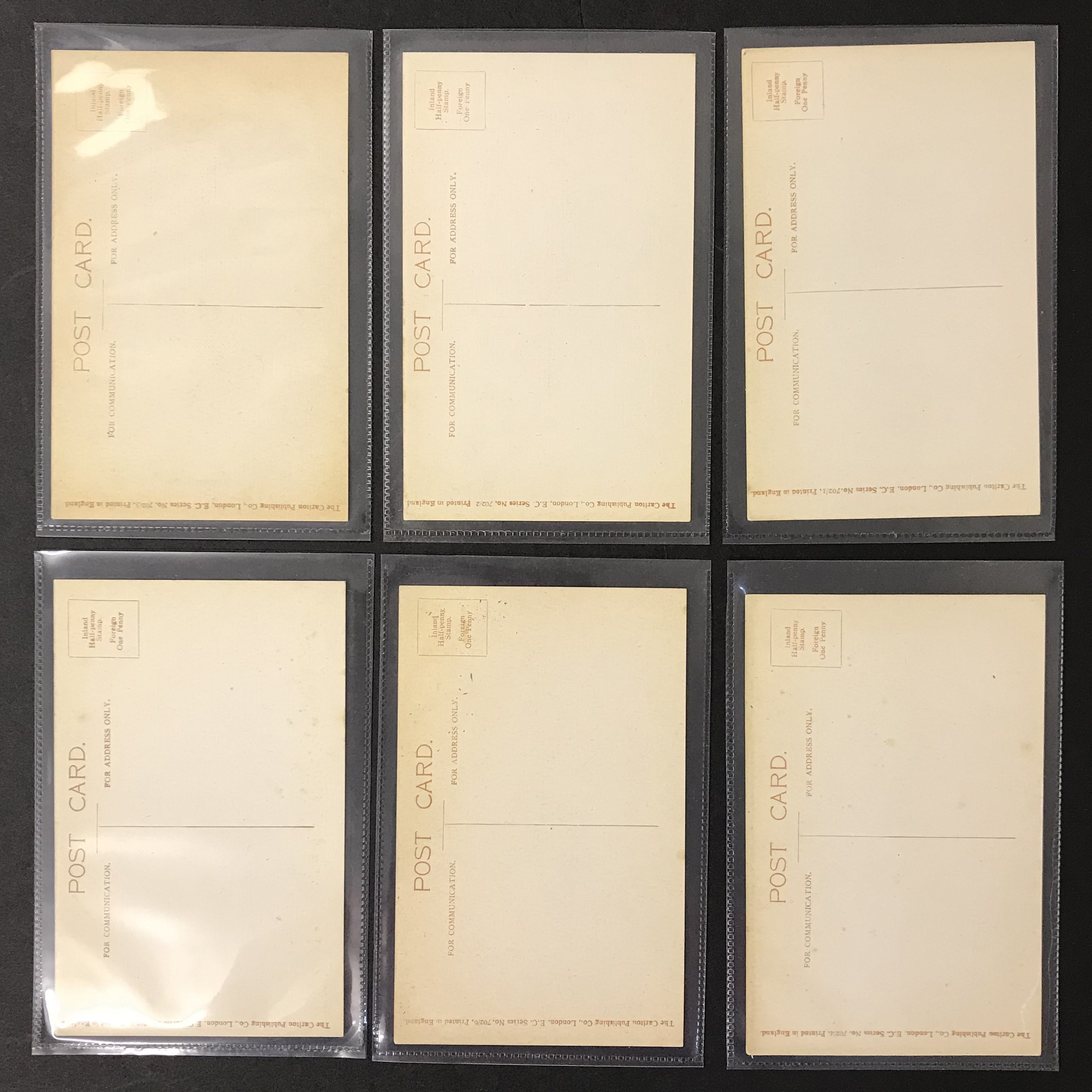Lot 49 - POSTCARDS - SET OF SIX GLAMOUR POSTCARDS