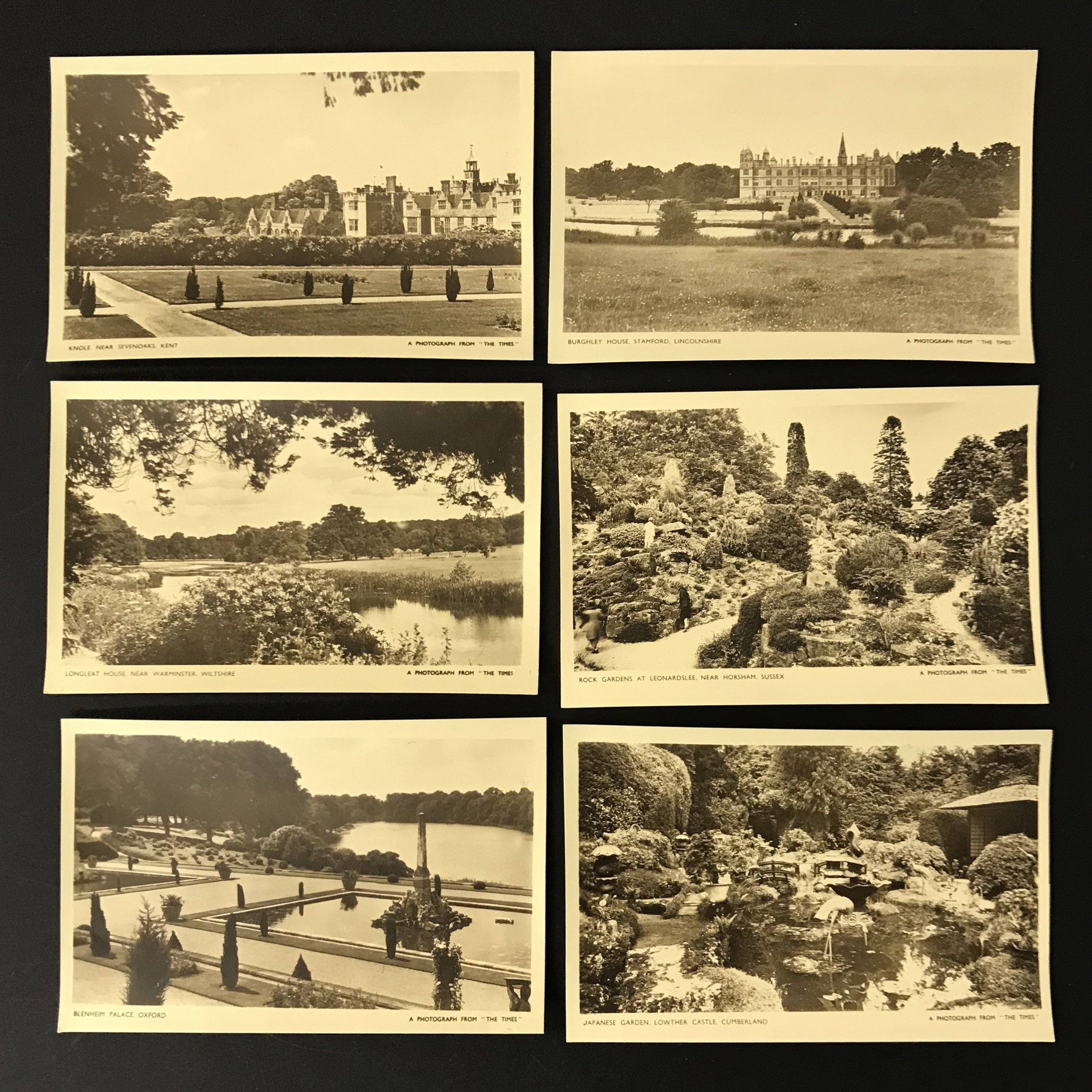 Lot 34 - FOUR COMPLETE SETS OF SIX POSTCARDS BY THE TIMES
