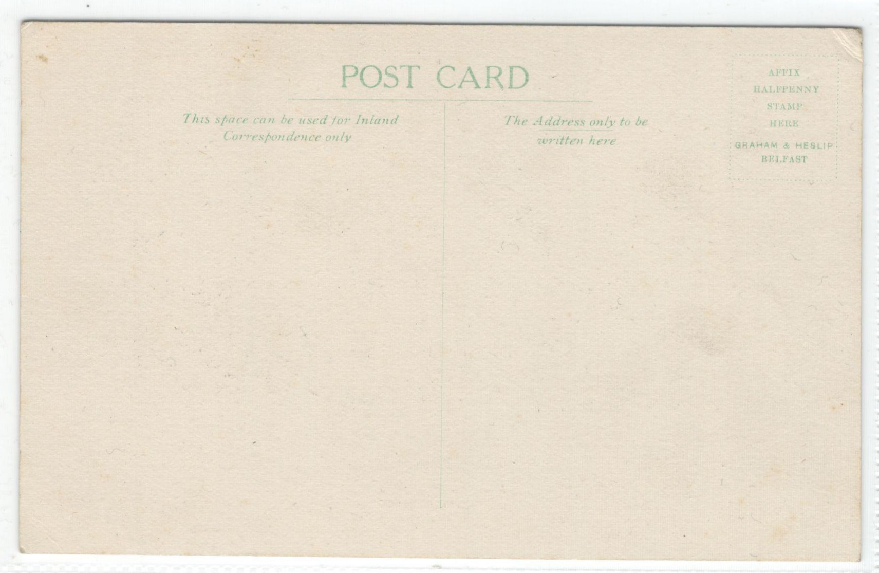 Lot 6 - THE BRITISH PROVINCIAL SYNOD - VINTAGE UNUSED POSTCARD BY GRAHAM & HESLIP BEFAST