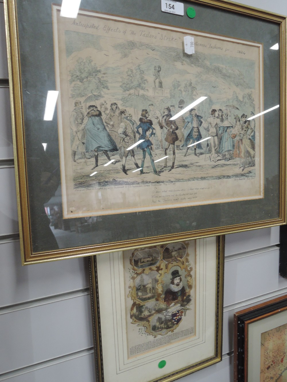Lot 154 - Two early etchings on of Tailors strike 1834