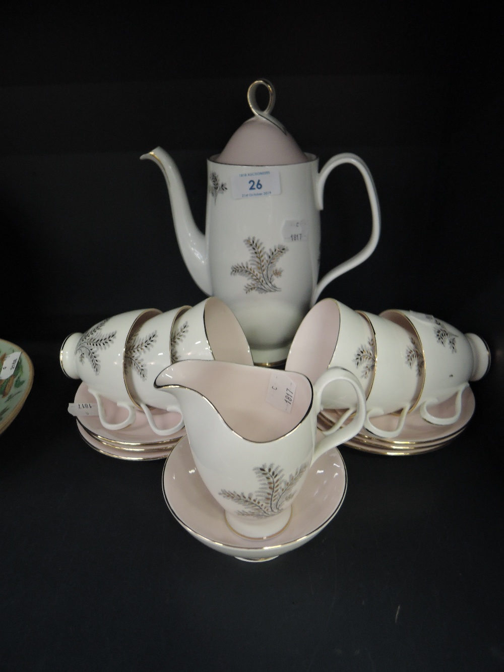 Lot 26 - A part coffee service by Royal Albert in the Sugar Candy design