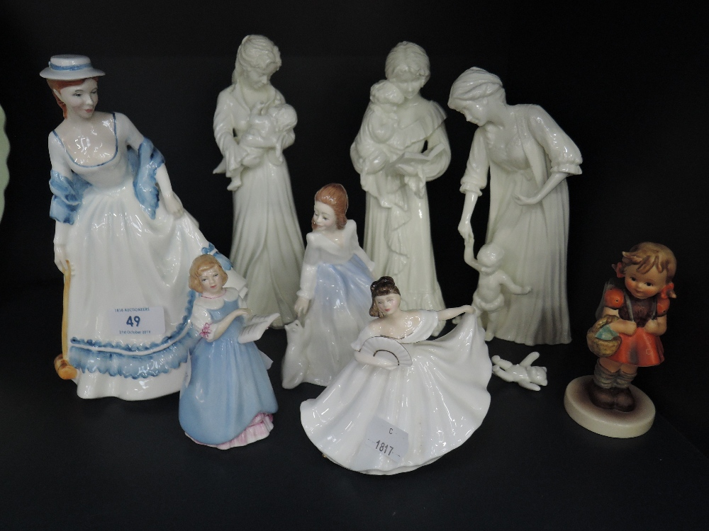 Lot 49 - A selection of figures by Royal Doulton and similar