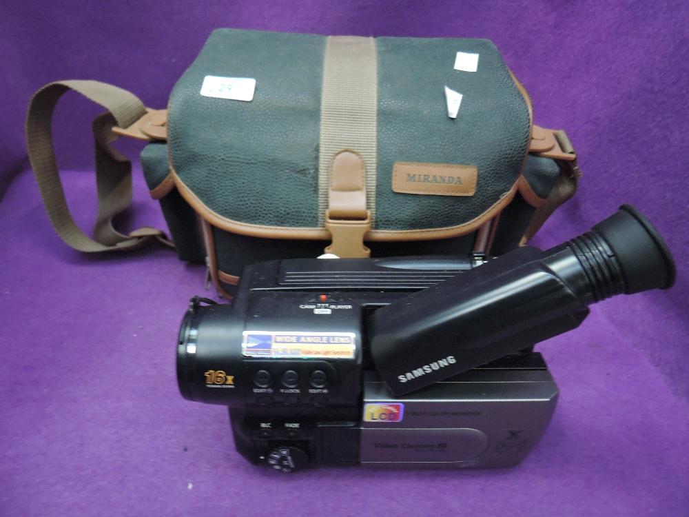 Lot 29 - A Samsung VP L100 video camera with Miranda camera bag