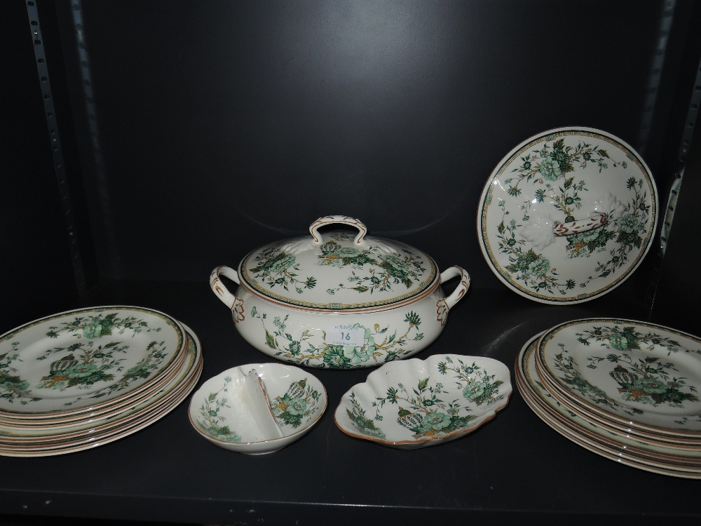 Lot 16 - A part dinner service by Crown Staffordshire in the Kowloon design