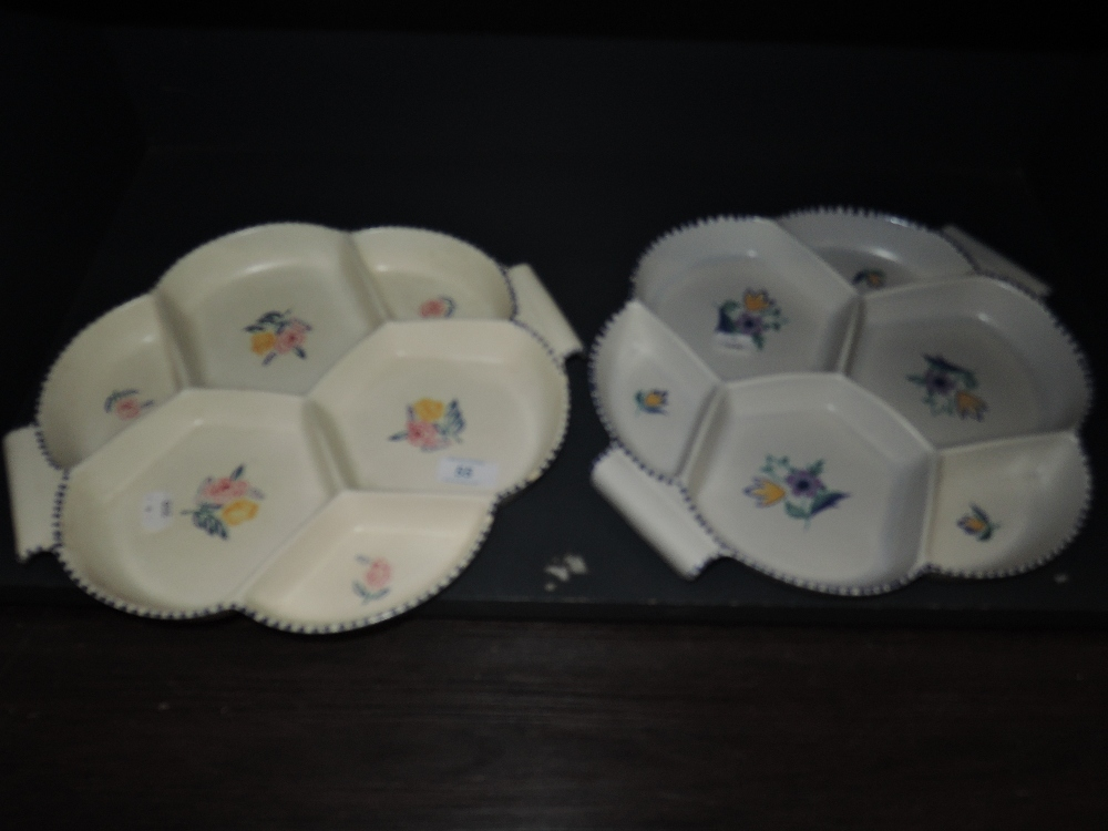 Lot 55 - Two dessert dishes by Poole