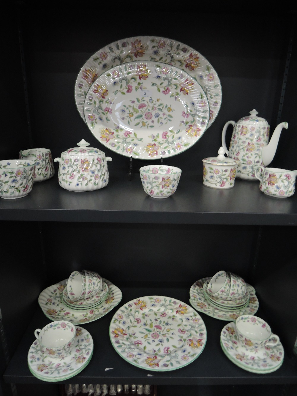 Lot 3 - A part tea and dinner service by Minton in the Haddon Hall design