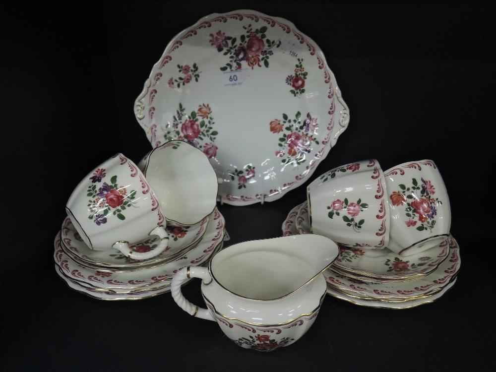 Lot 60 - A part tea service by Royal Crown Derby