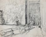 Lot 165 - • STEVEN SPURRIER, R.A., R.O.I., R.B.A., P.S. (1878-1961) MURAL CARTOON - FRANK BRANGWYN'S STUDIO,