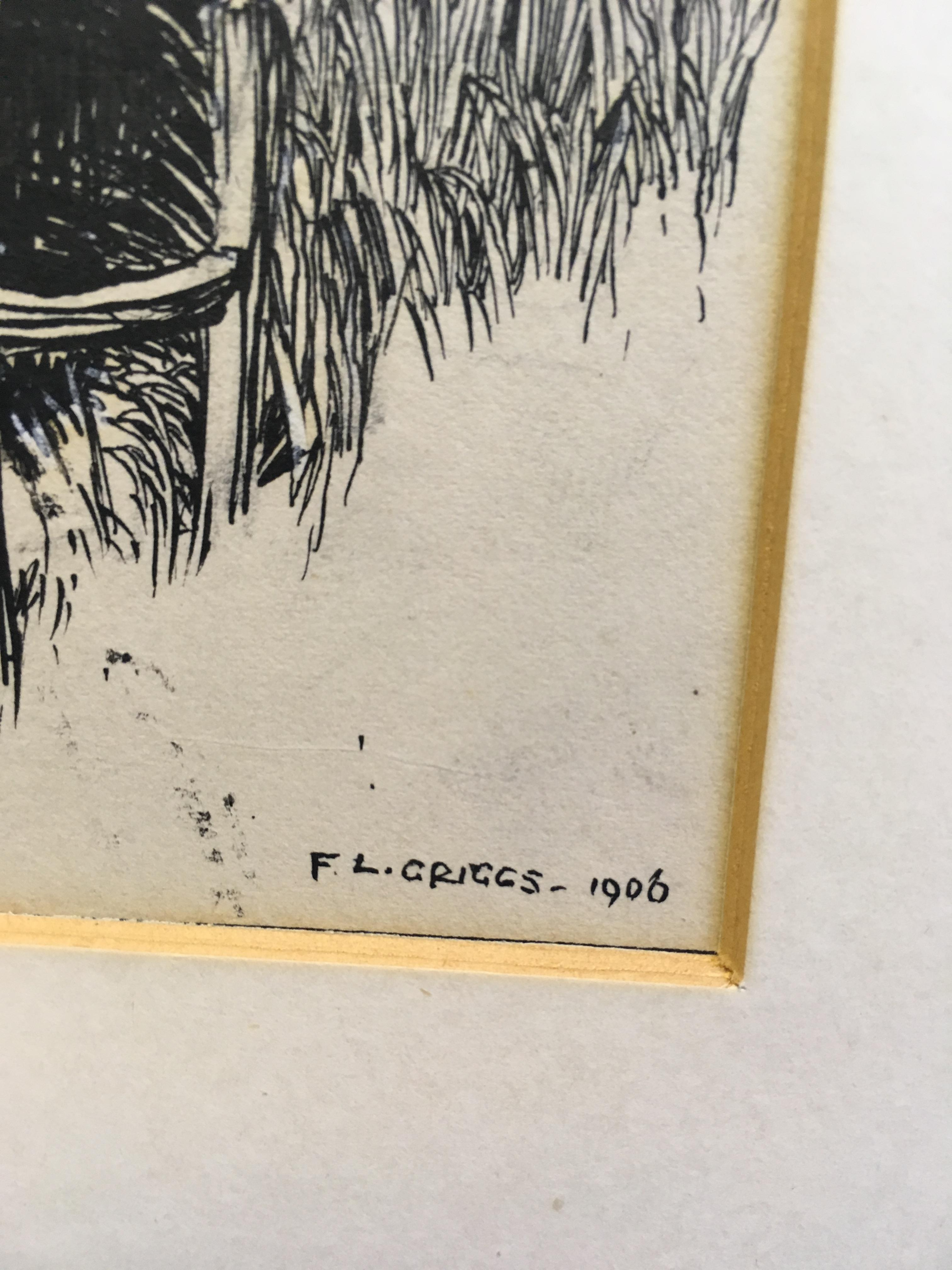 Lot 79 - FREDERICK LANDSEER GRIGGS, R.A., R.E. (1876-1938) RADCOT`BRIDGE, BERKSHIRE signed l.r. F.L. Griggs