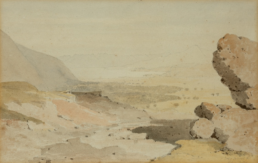Lot 144 - □ ENGLISH SCHOOL (EARLY 19th CENTURY) THE GULF OF SALONA, VALE OF CRISA (OR, CHRYSO), GREECE