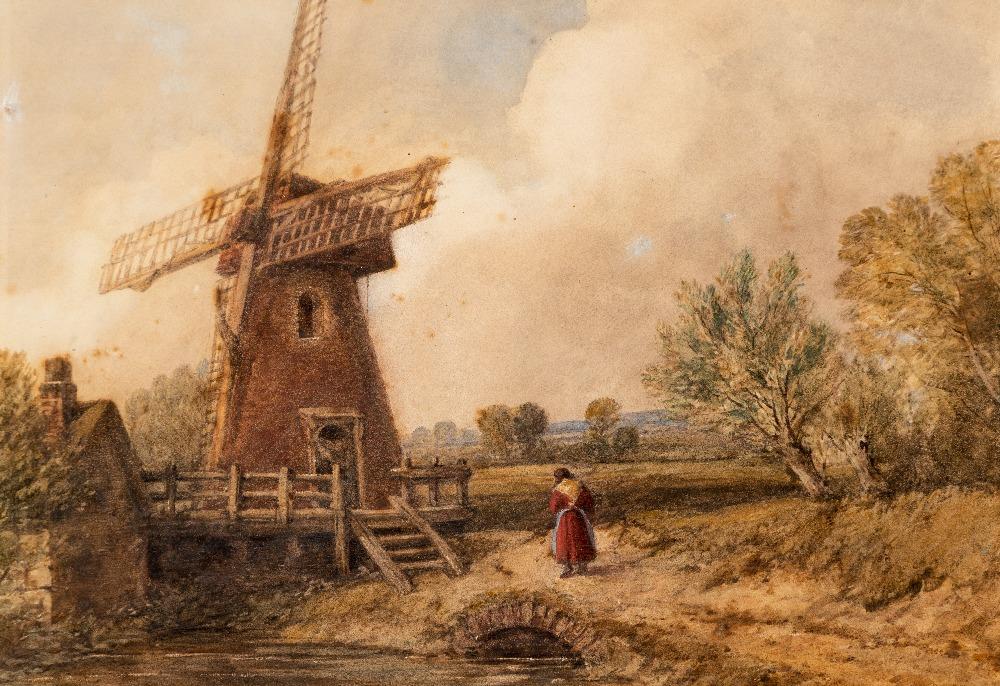 Lot 89 - FOLLOWER OF DAVID COX (1783-1859) A WINDMILL watercolour 22.0 x 33.0cm / 8 1/2 x 13in