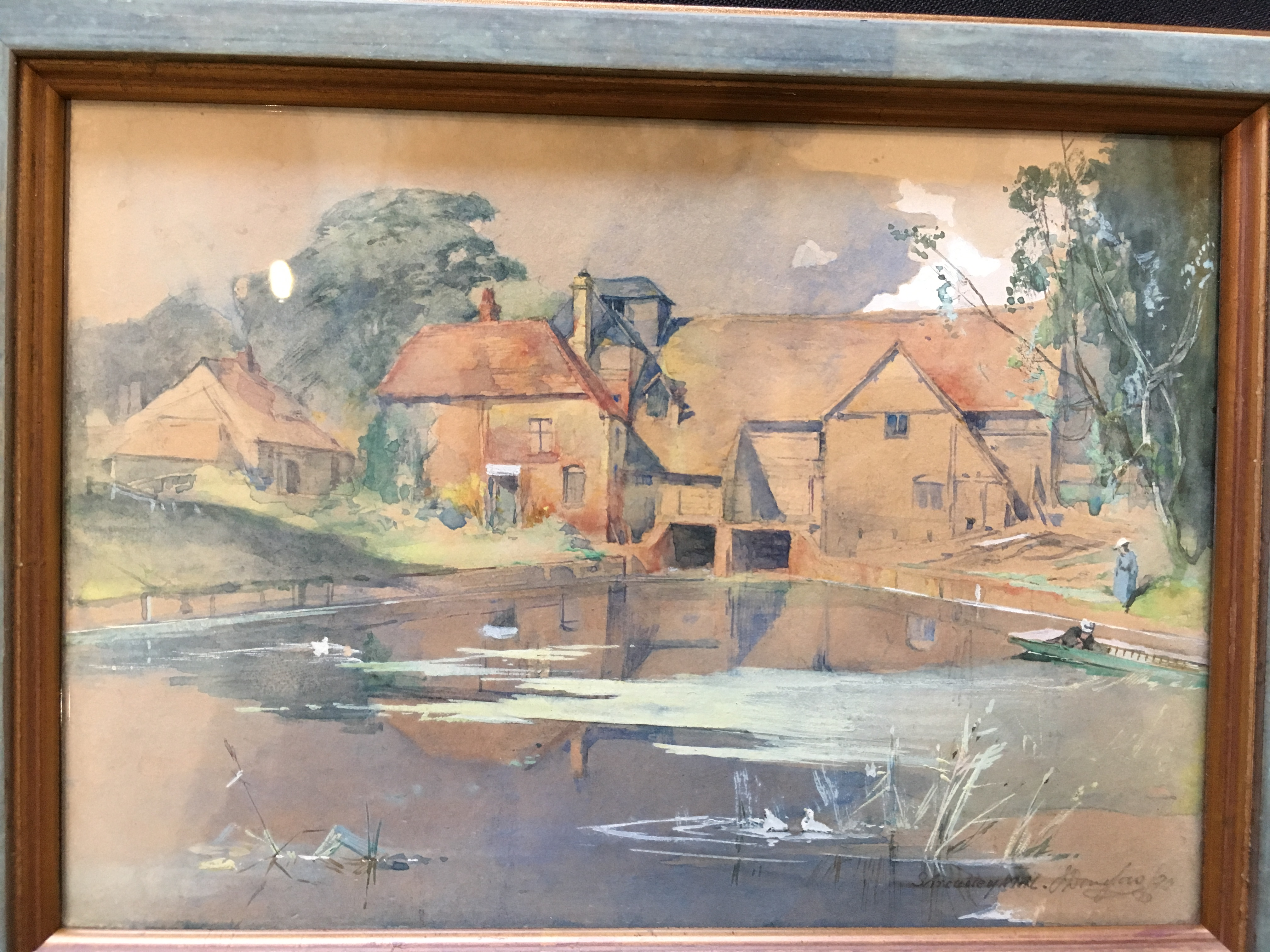 Lot 116 - JAMES DOUGLAS (1858-1911) CLEVE MILL ON THE THAMES sold together with Streatley Mill on the Thames
