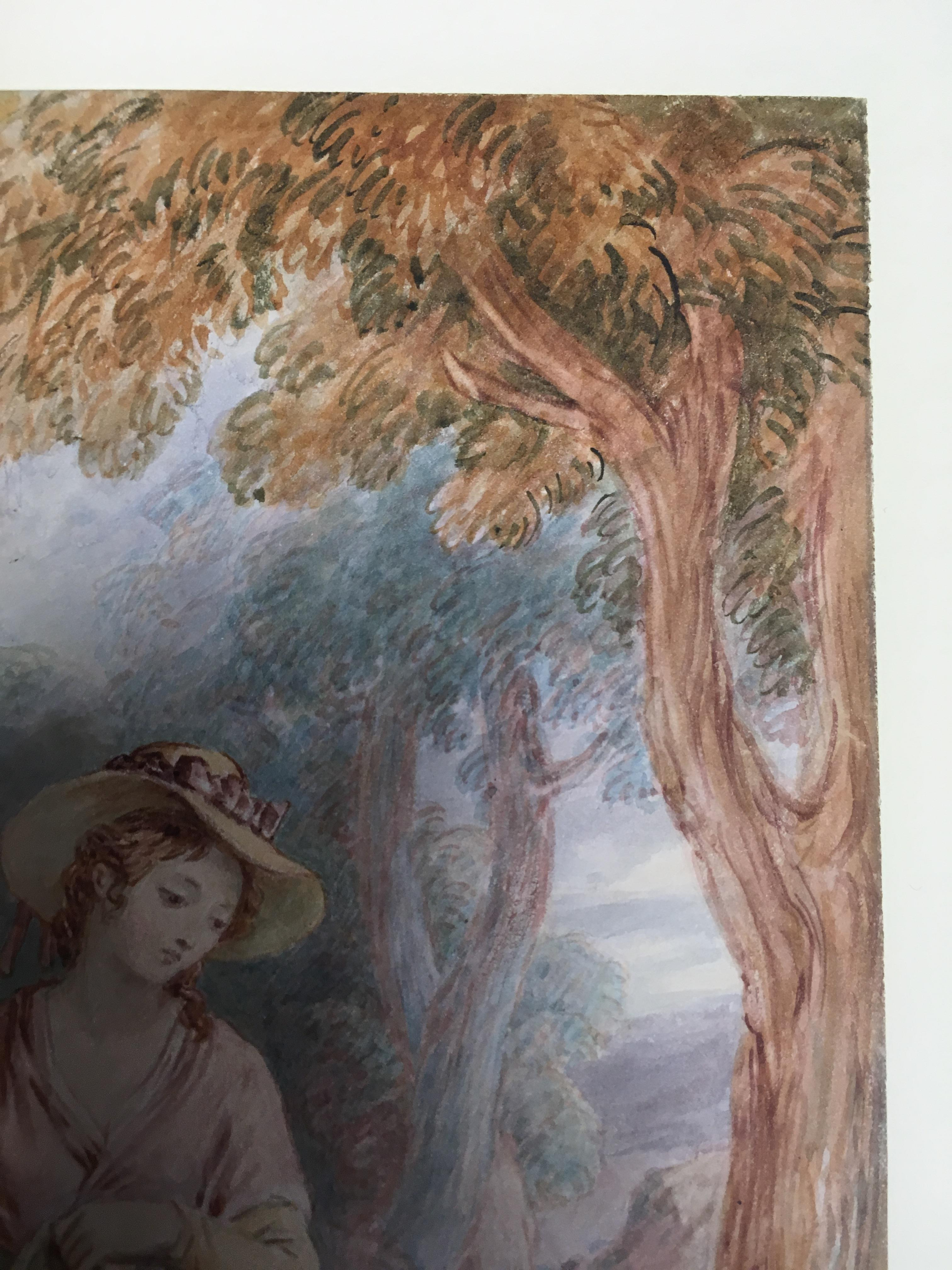 Lot 29 - JOHN MASEY WRIGHT (1777-1866) THE PENITENT DAUGHTER pen & ink with watercolour 36.0 x 28.5cm / 14