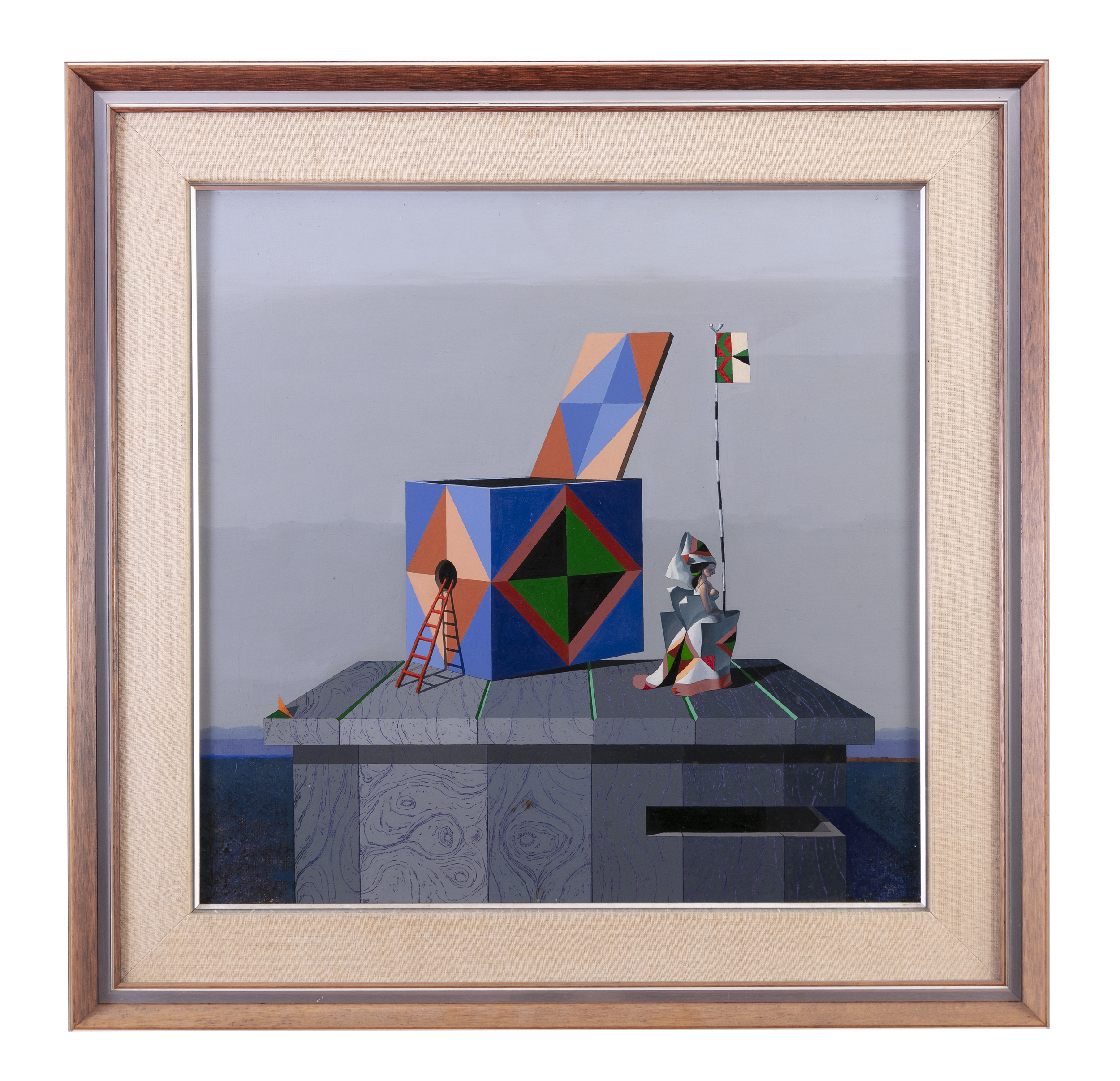 Lot 92 - Colin Middleton RHA RUA MBE (1910-1983)The Catalan Mousetrap (1975)Oil on board, 60 x 60cm (23¾ x