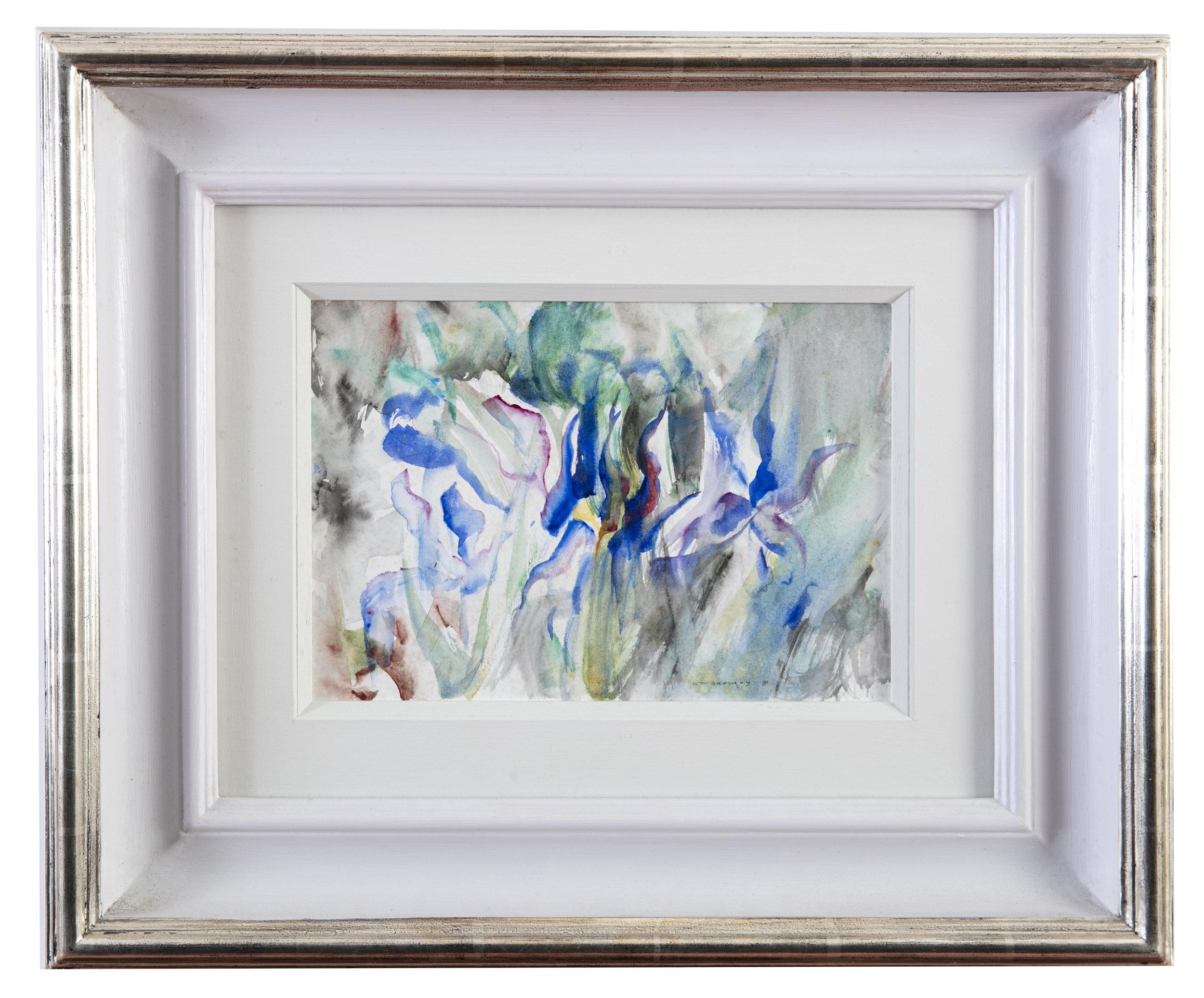 Lot 25 - Louis le Brocquy HRHA (1916-2012)IrisWatercolour, 17 x 25cm (6½ x 9¾)Signed and dated (19)'