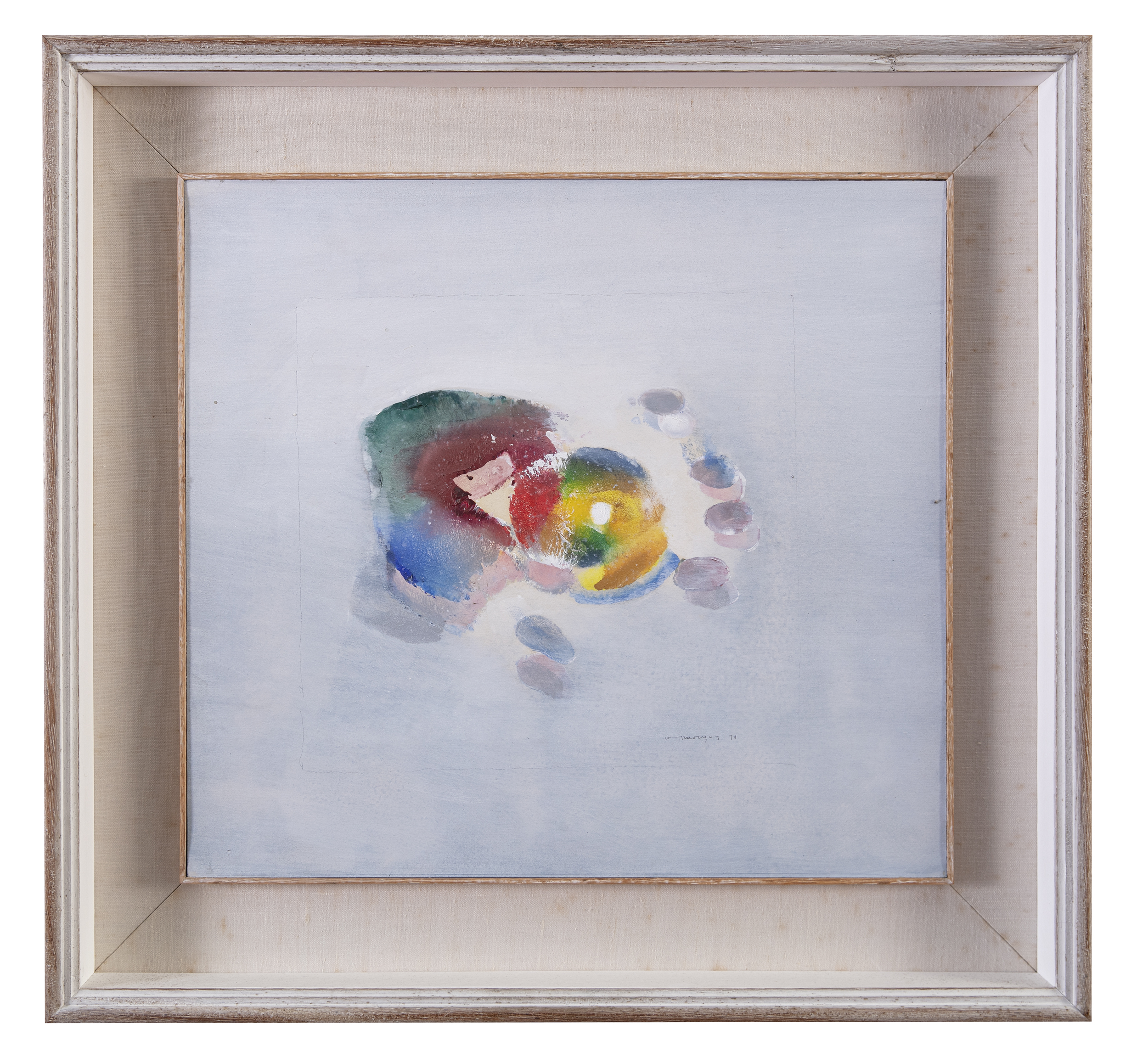 Lot 26 - Louis le Brocquy HRHA (1916-2012)Lemon in the HandOil on board with pencil, 34.5 x 38cm (13½ x 15)