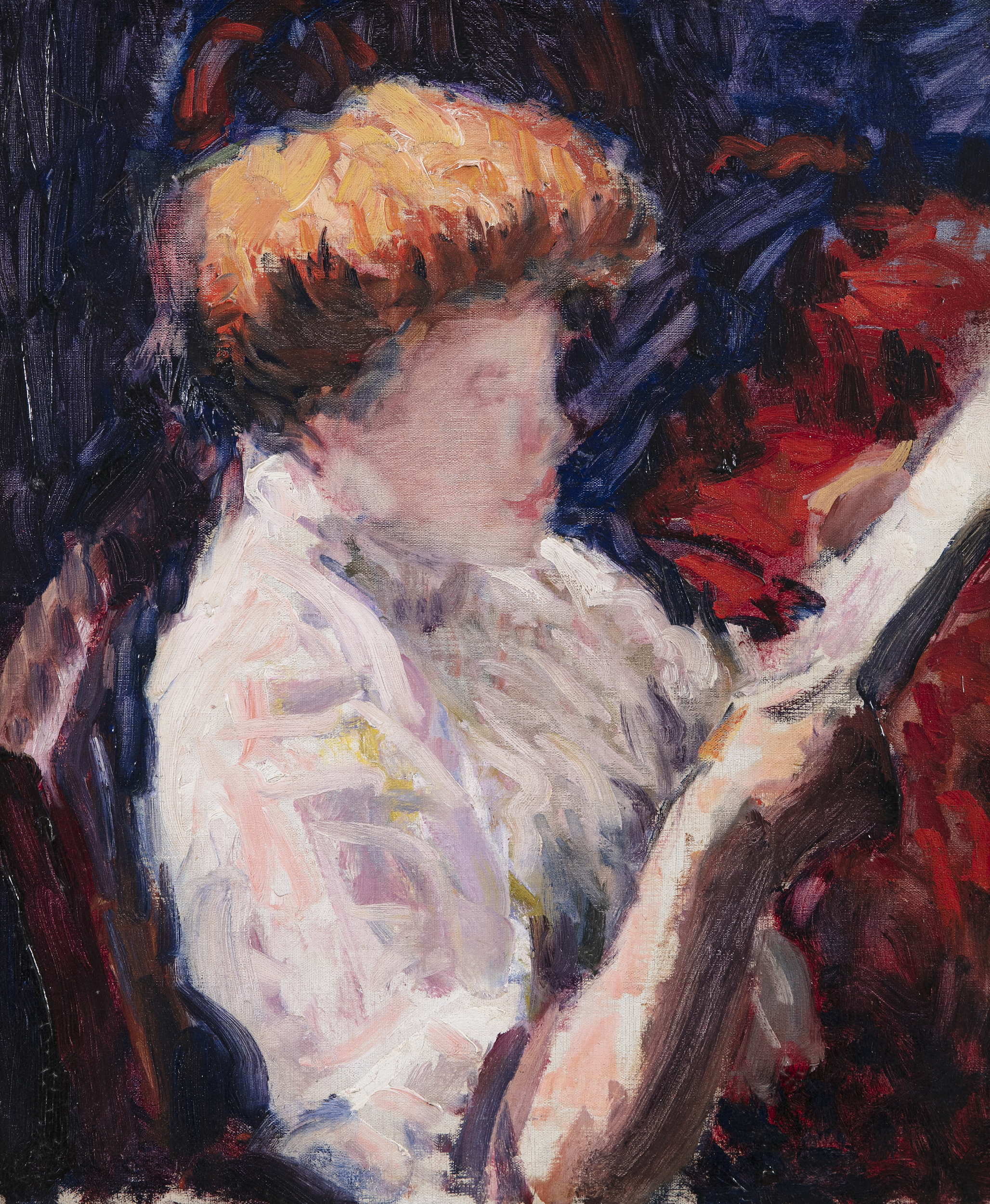 Lot 39 - Roderic O'Conor (1860-1940)Femme Lisant or 'Woman Reading' (c.1907/8)Oil on canvas, 54.6 x 45.7cm (