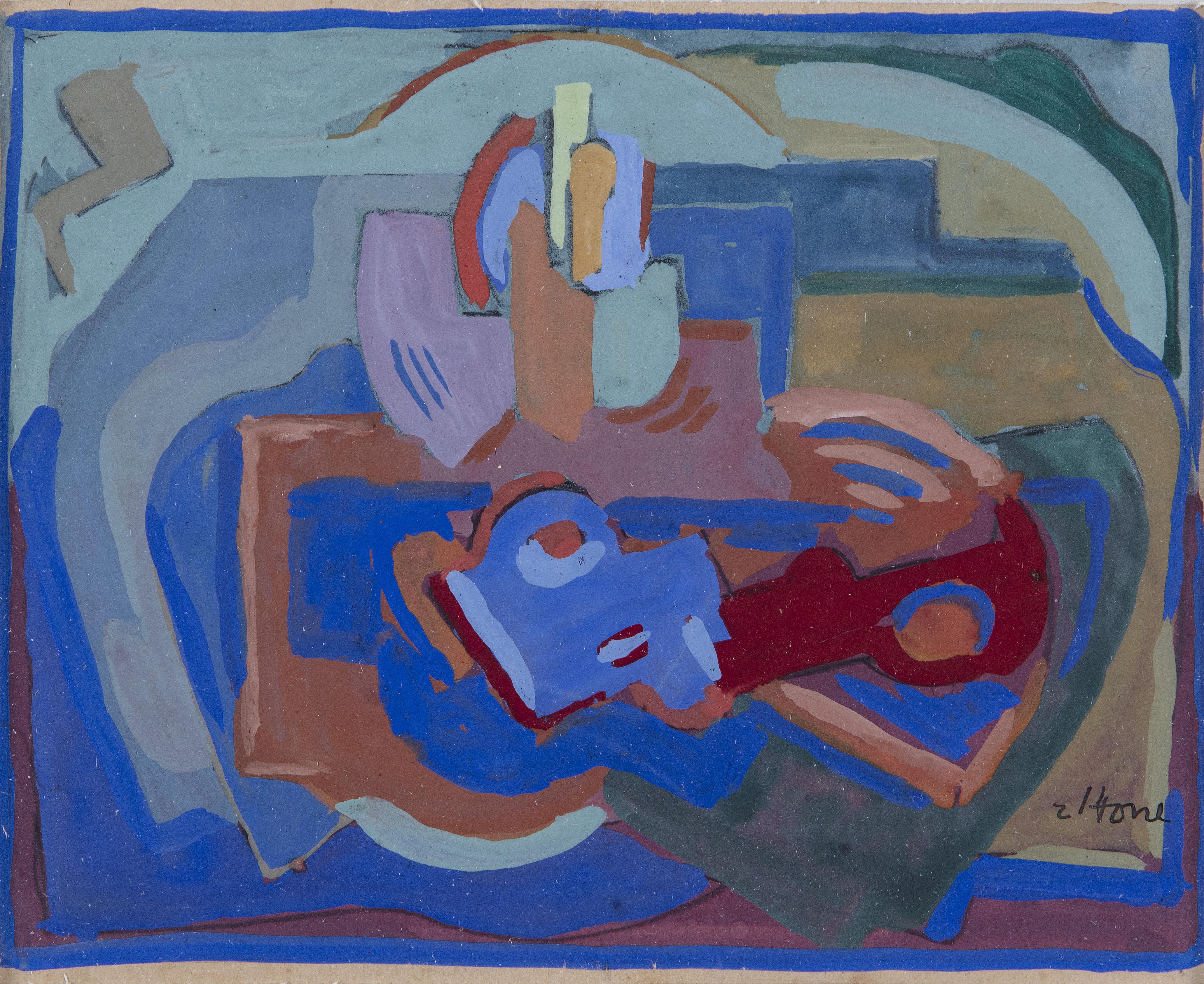 Lot 8 - Evie Hone HRHA (1894-1955)CompositionGouache, 11.5 x 14cmSignedProvenance: With The Dawson
