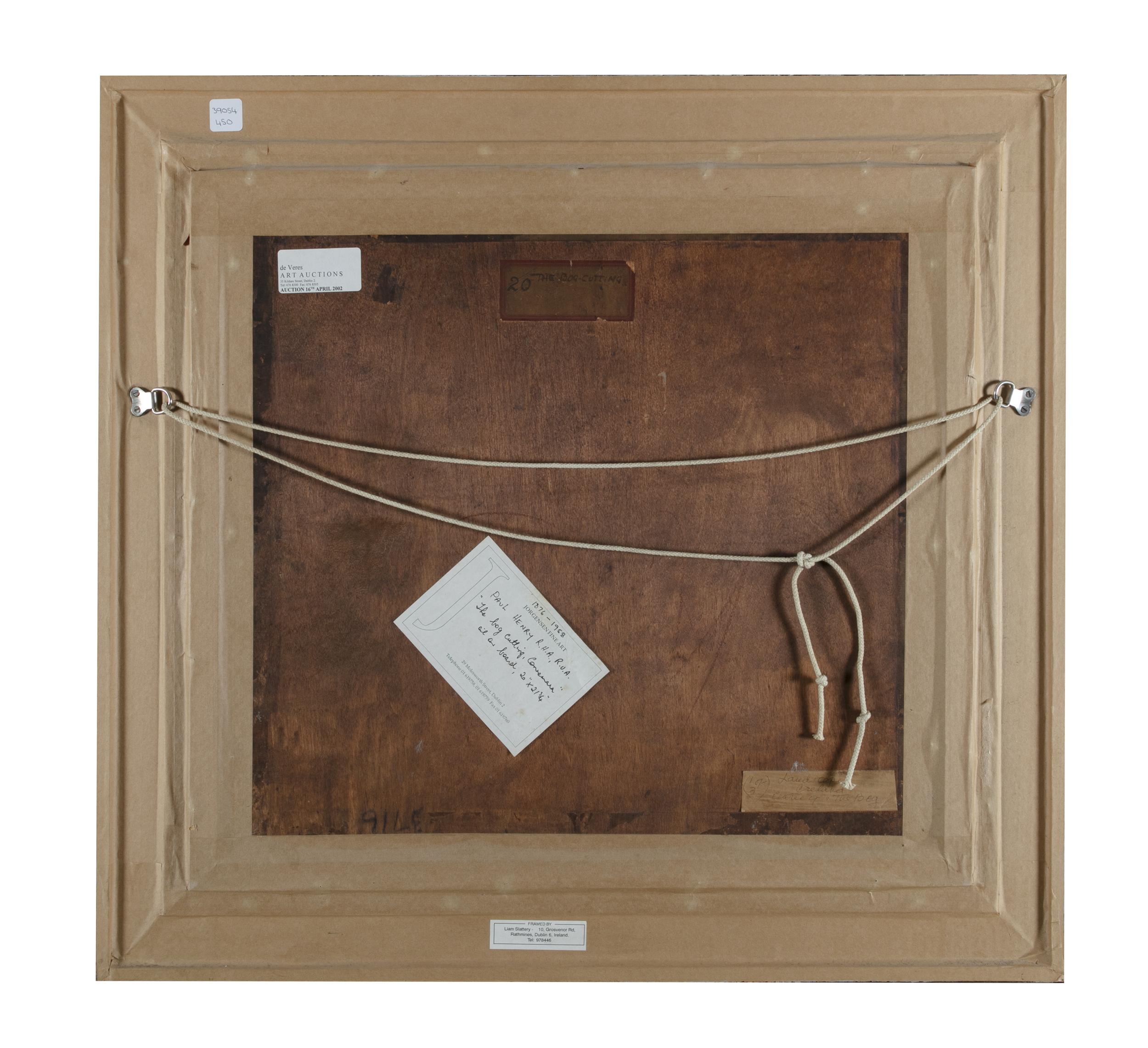 Lot 30 - Paul Henry RHA (1877-1958)The Bog Cutting (1918)Oil on canvas, 50 x 54.5cm (19¾ x 21¼)