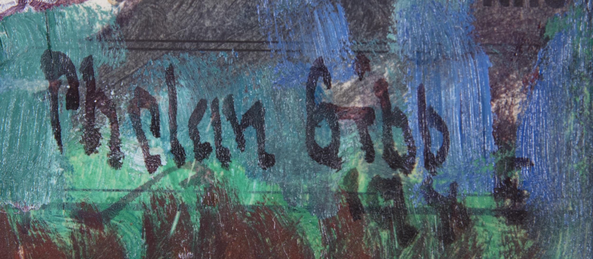 Lot 53 - Harry Phelan Gibb (1870-1948)Six Horses in a Landscape (1945)Oil on board, 24 x 28cm (9½ x 11)Signed