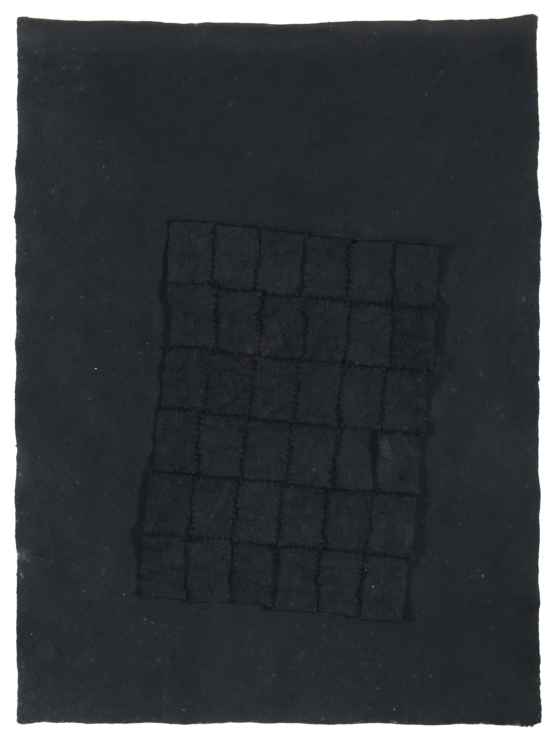Lot 87 - Michael Coleman (b.1951)Black Emerging (1977)Charcoal and collage, 78 x 56cm (30¾ x 22)Provenance: