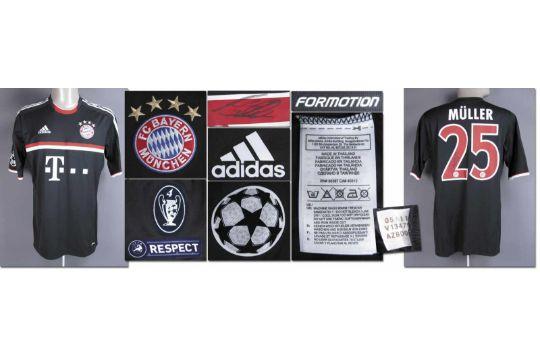 separation shoes 0e649 893b0 match worn football shirt Bayern Munich 2011/12 - Original ...