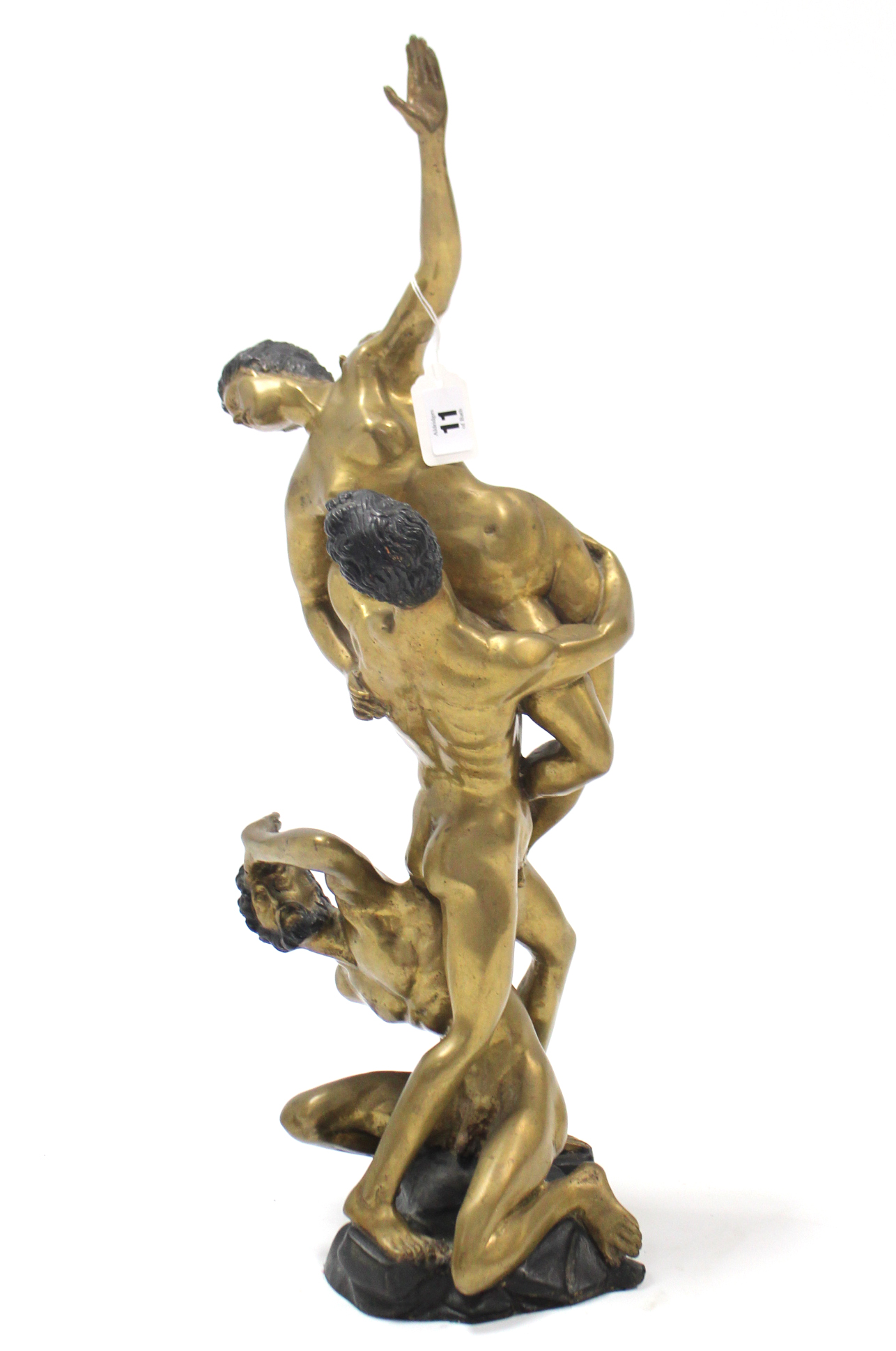 "Lot 11 - A bronzed sculpture after Giambologna titled ""Rape of the Sabine Women"", 24¼ high."