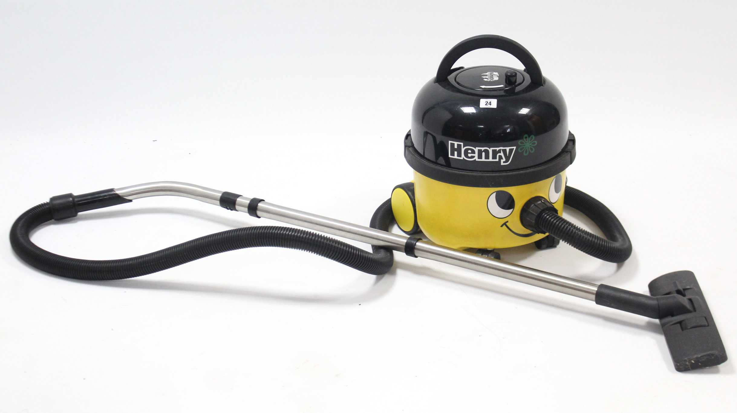 "Lot 24 - A Numatic ""Henry"" cylinder vacuum cleaner."