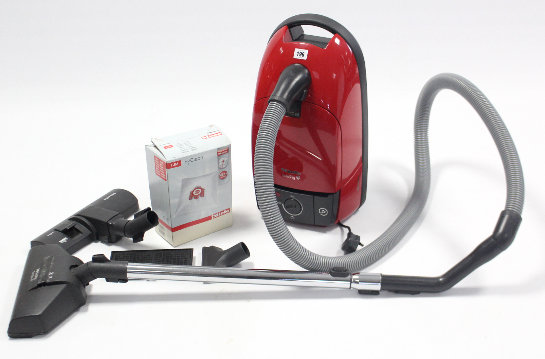 Lot 196 - A Miele cylinder vacuum cleaner.