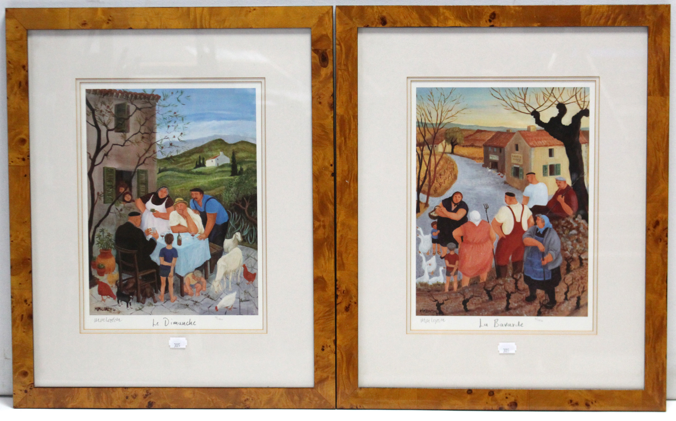 "Lot 305 - A set of four signed Limited Edition prints after Margaret M. Loxton (b. 1938), titled: ""Le"
