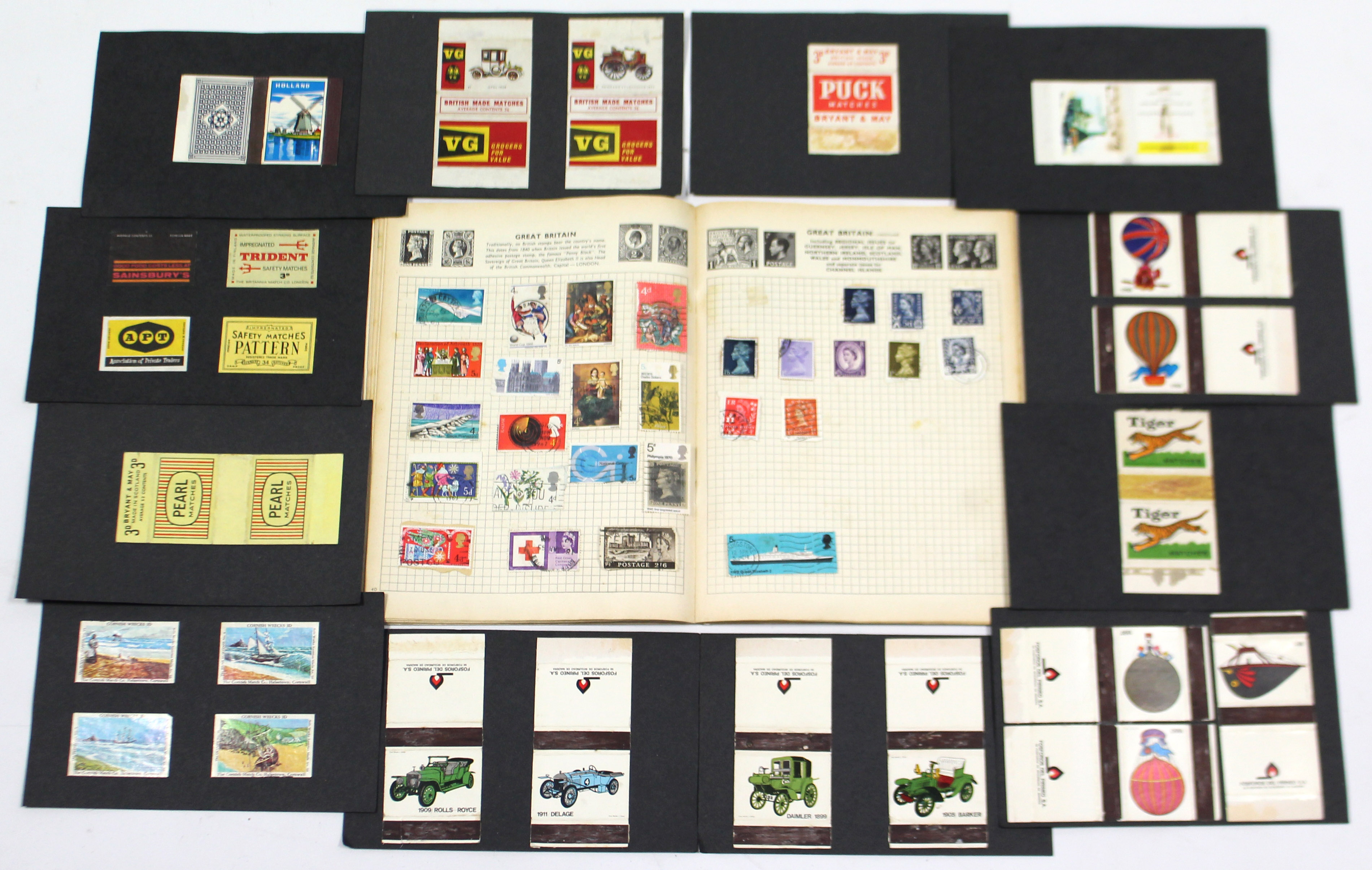 """Lot 195 - A Stanley Gibbons """"Gay Venture"""" stamp album containing various British & foreign stamps; together"""