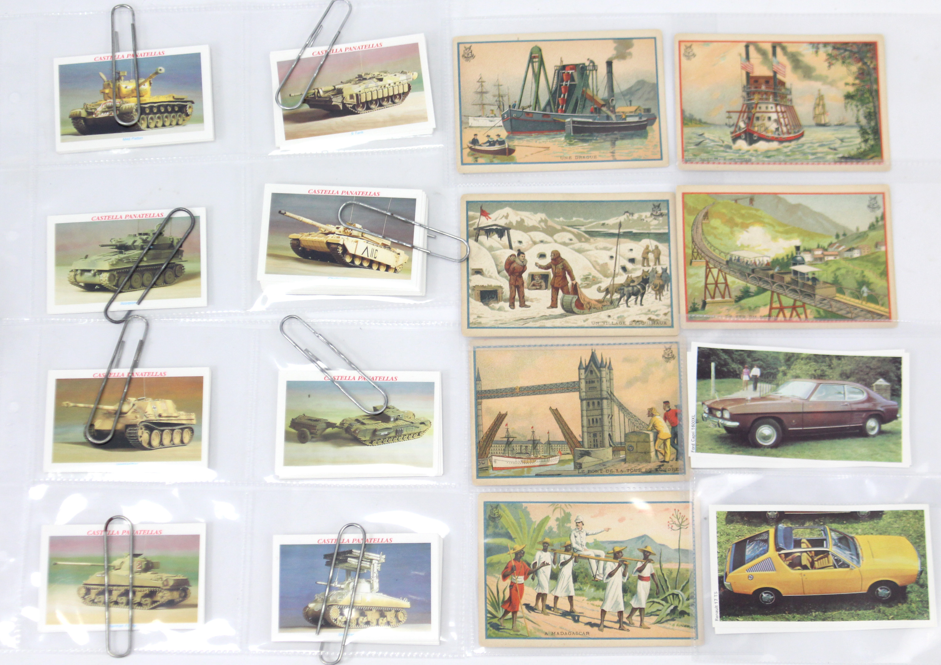 Lot 94 - Approximately two hundred various trade cards – all transport related, in plastic album pages &