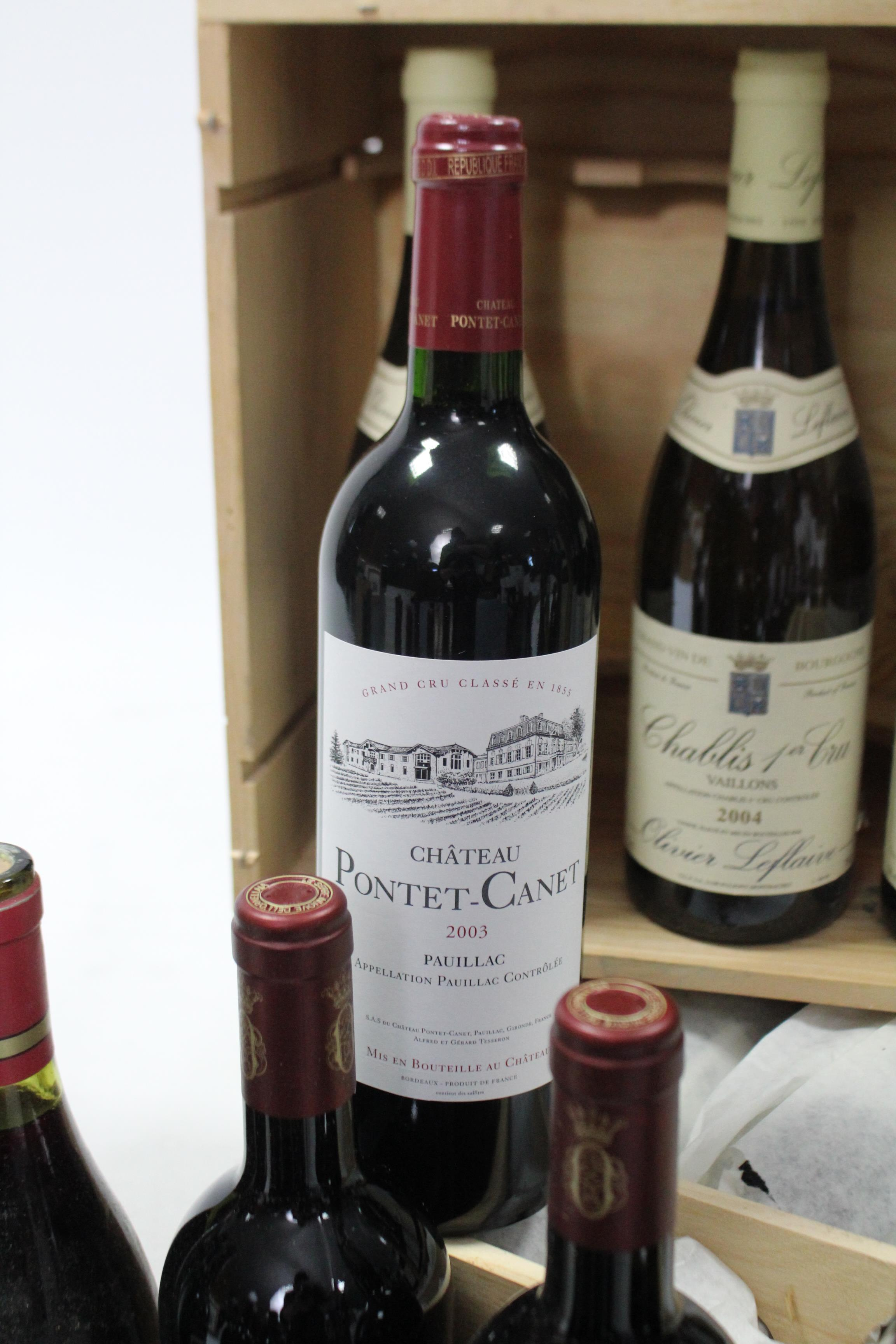 Lot 59 - A case of twelve75cl bottles of Pontet-Canet; together with thirty-five various other bottles of