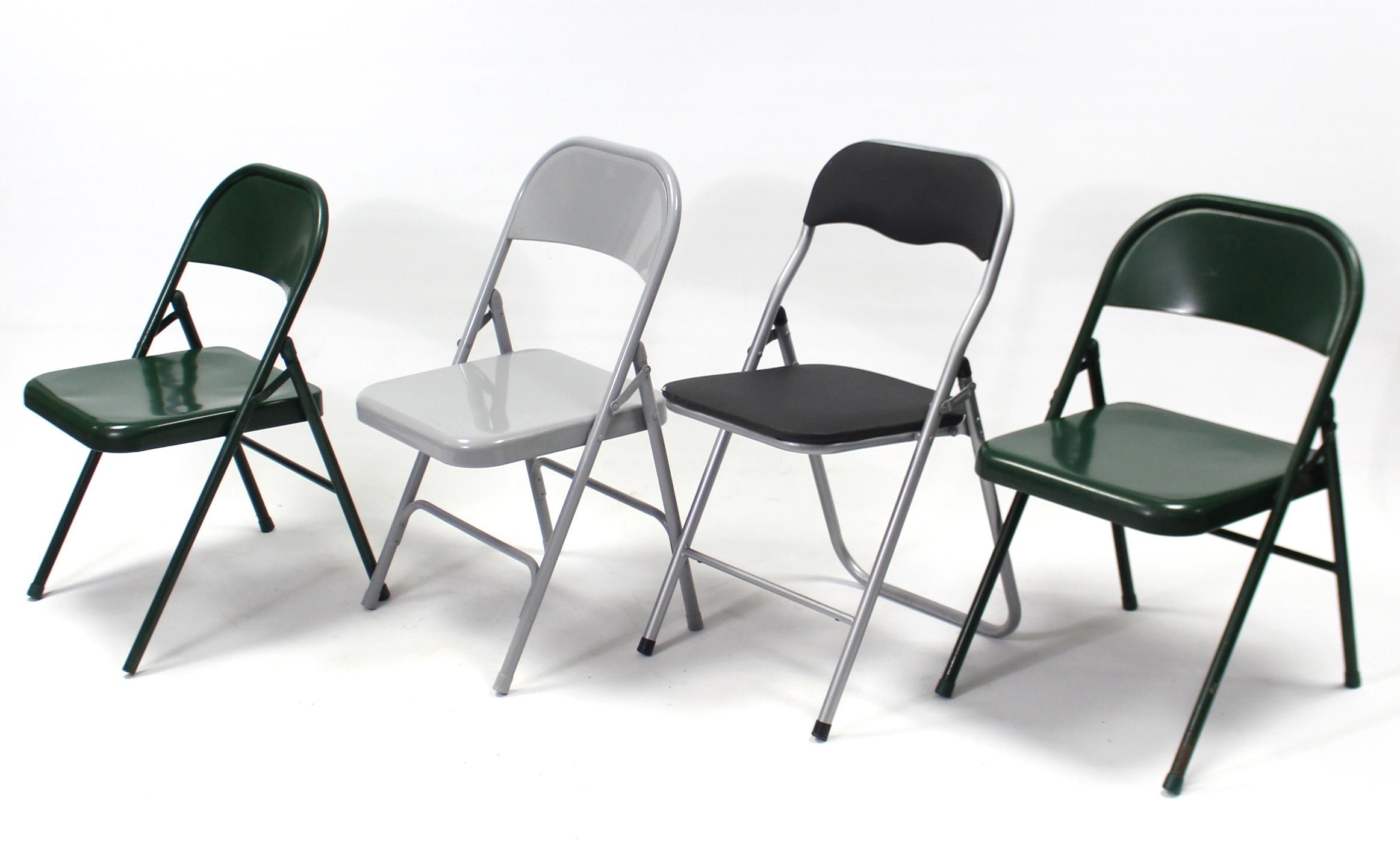 Lot 136 - Ten various fold-away chairs.