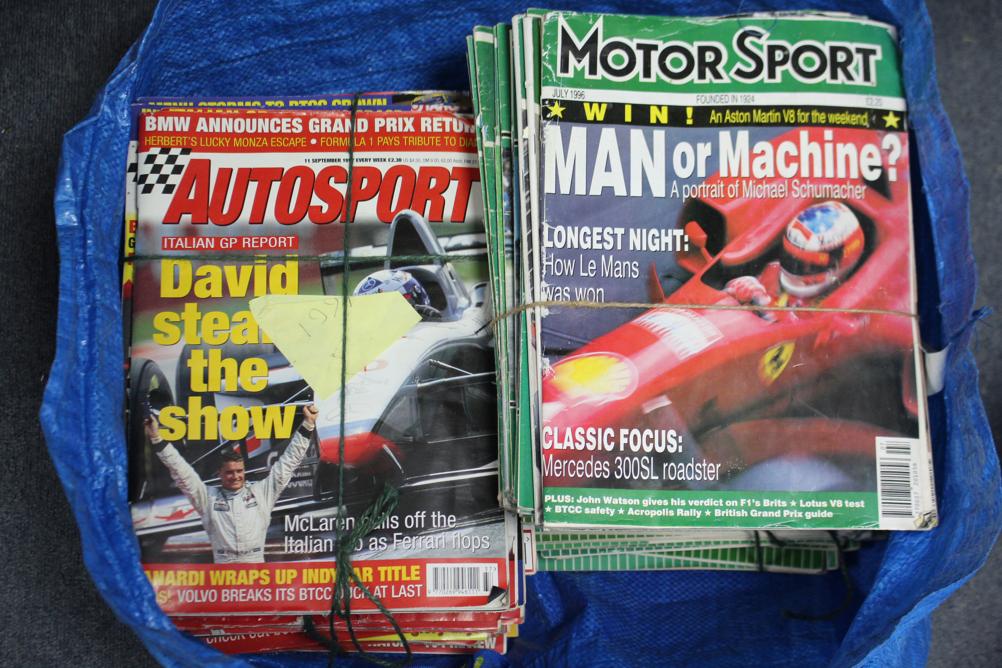 Lot 103 - A large collection of magazines on Formula One racing, circa 1980's onwards.