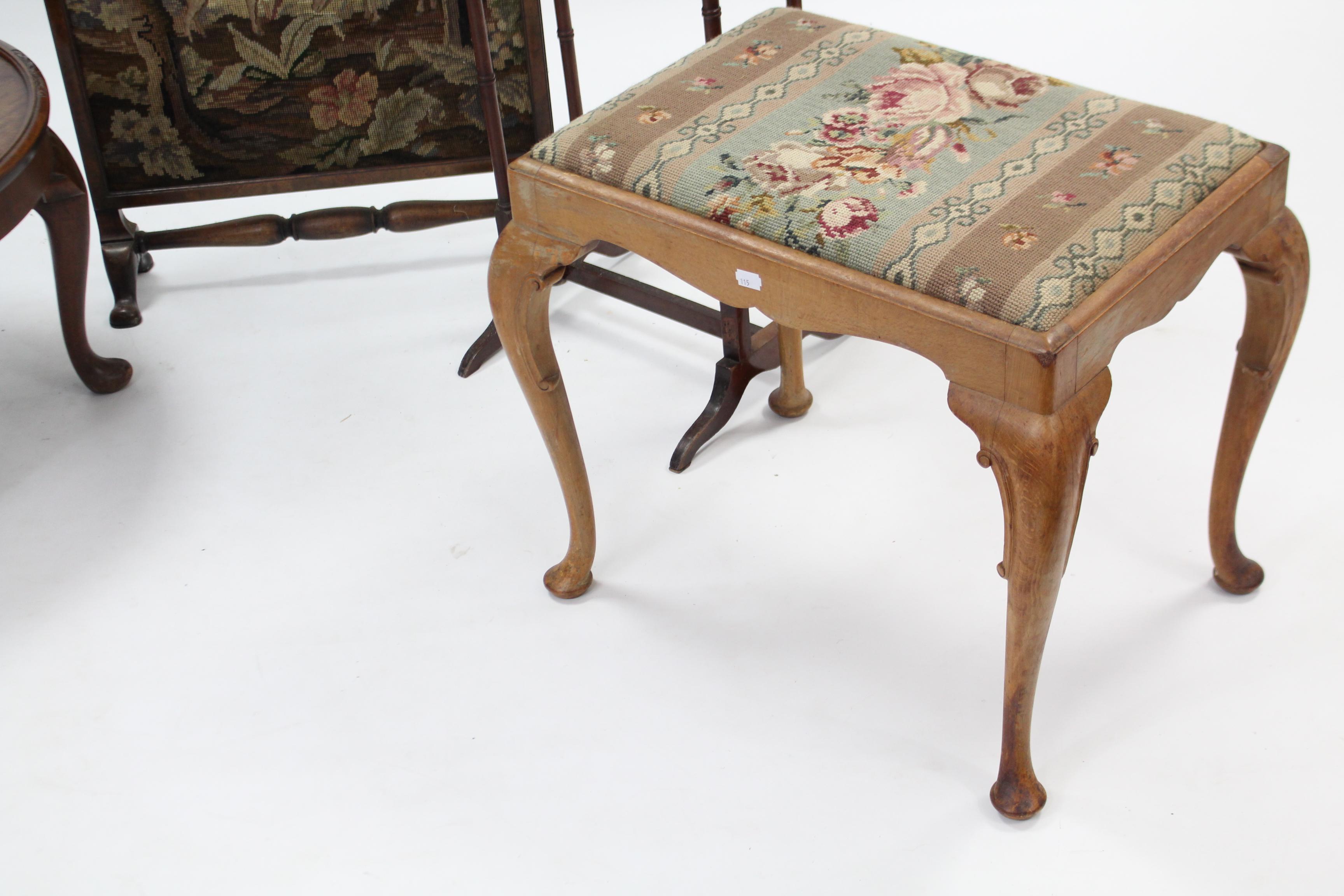 "Lot 166 - A mahogany circular low coffee table on four short cabriole legs & pad feet, 24"" diam.; together"