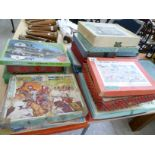 Lot 145 - An uncollated collection of twenty-five 'Victory' plywood jigsaw puzzles various subjects & sizes