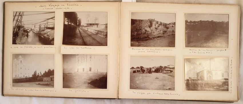 Lot 29 - AA VV ALBUM OF PHOTOS IN TUNISIA OF 1902 Very interesting album of travel in Tunisia made in