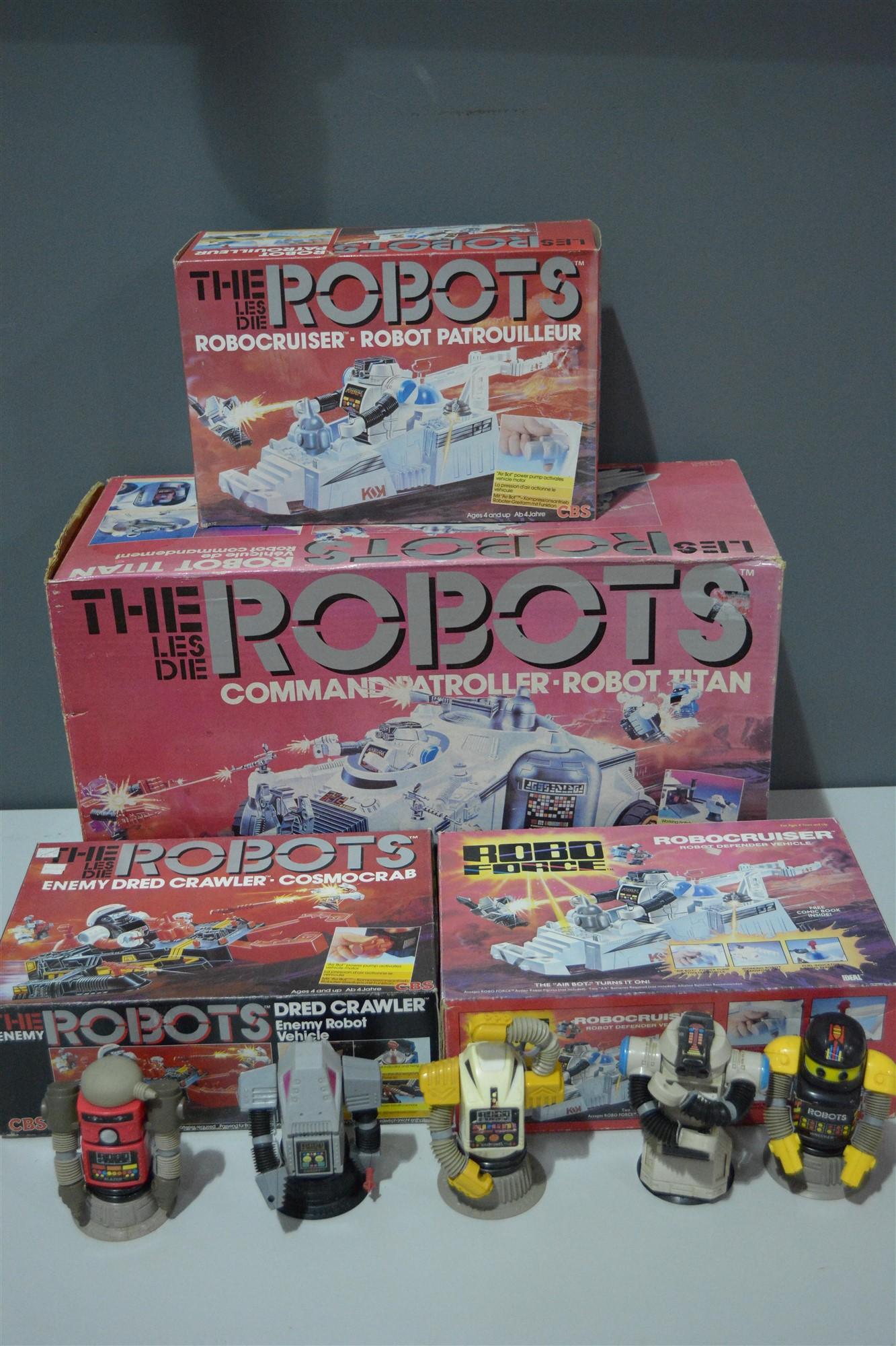 Lot 1004 - The Les Die (Roboforce) Robots