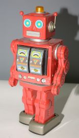 Lot 1037 - Tin plate fighting robot