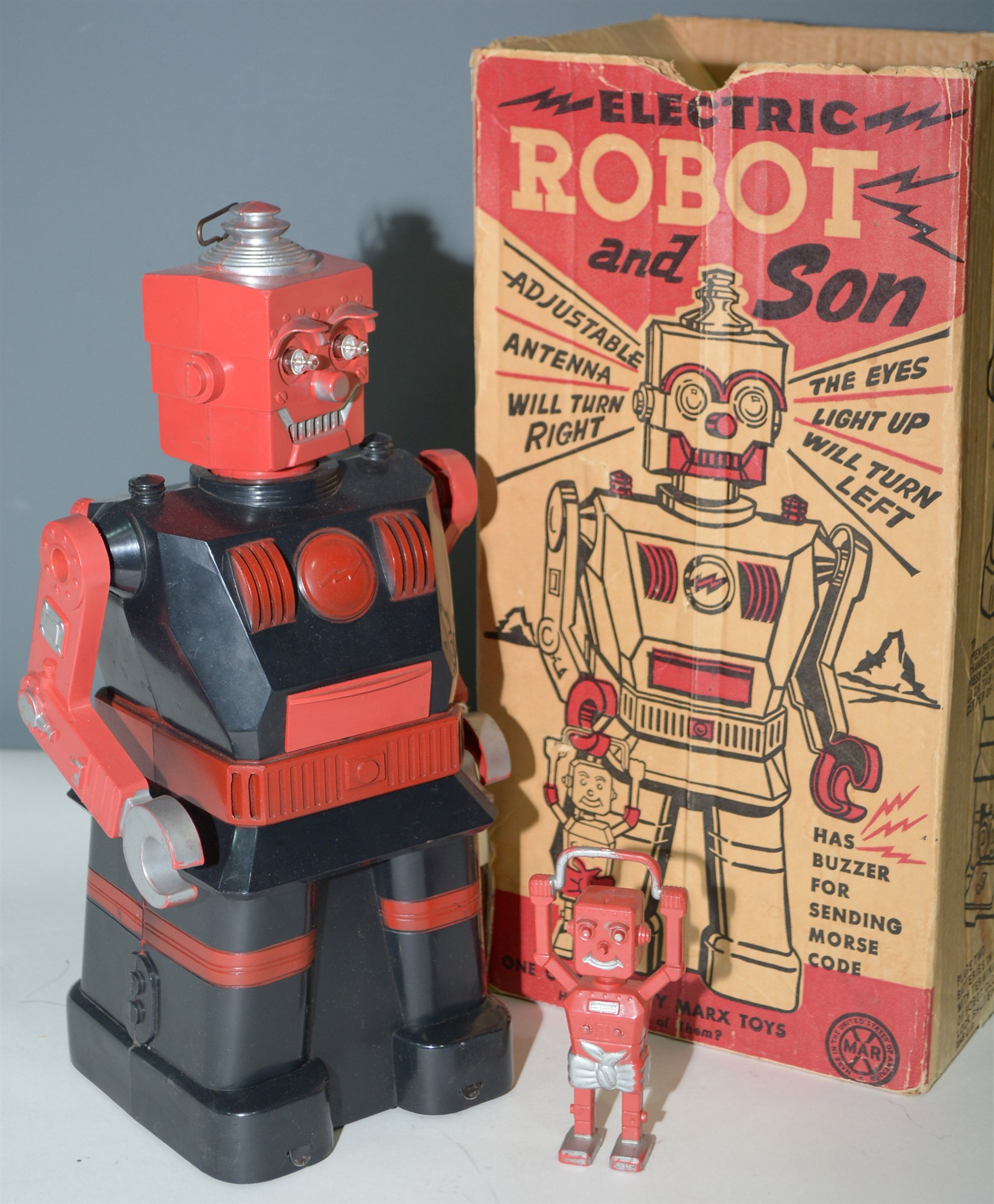Lot 1058 - Marx Electric Robot and Son