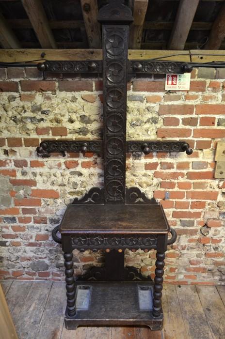 Lot 20 - Victorian oak hall stand