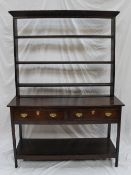 An 19th century South Wales stained pine dresser,