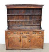 An 18th century North Wales style oak dresser,